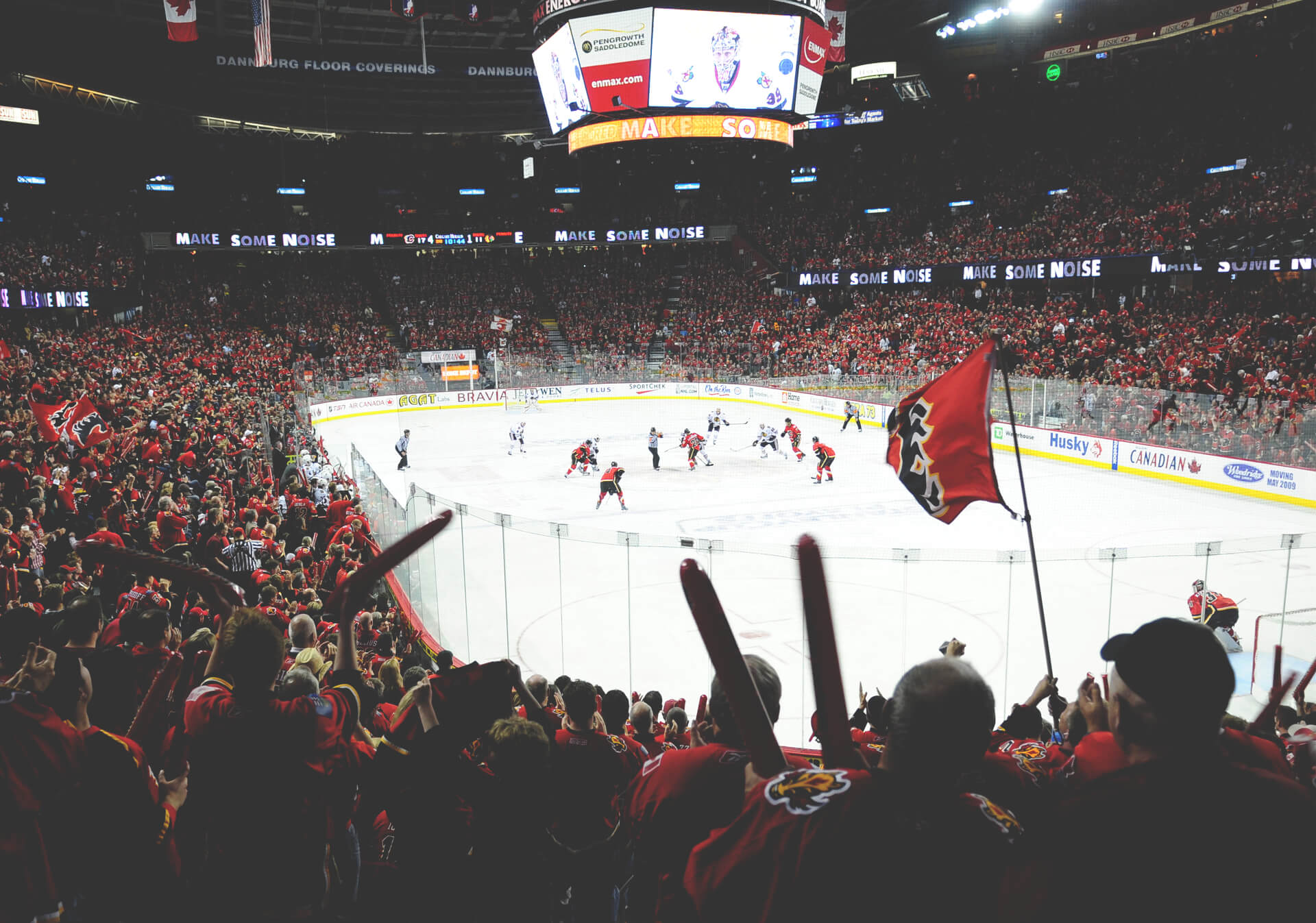 NHL action with the Calgary Flames at the Scotiabank Saddledome