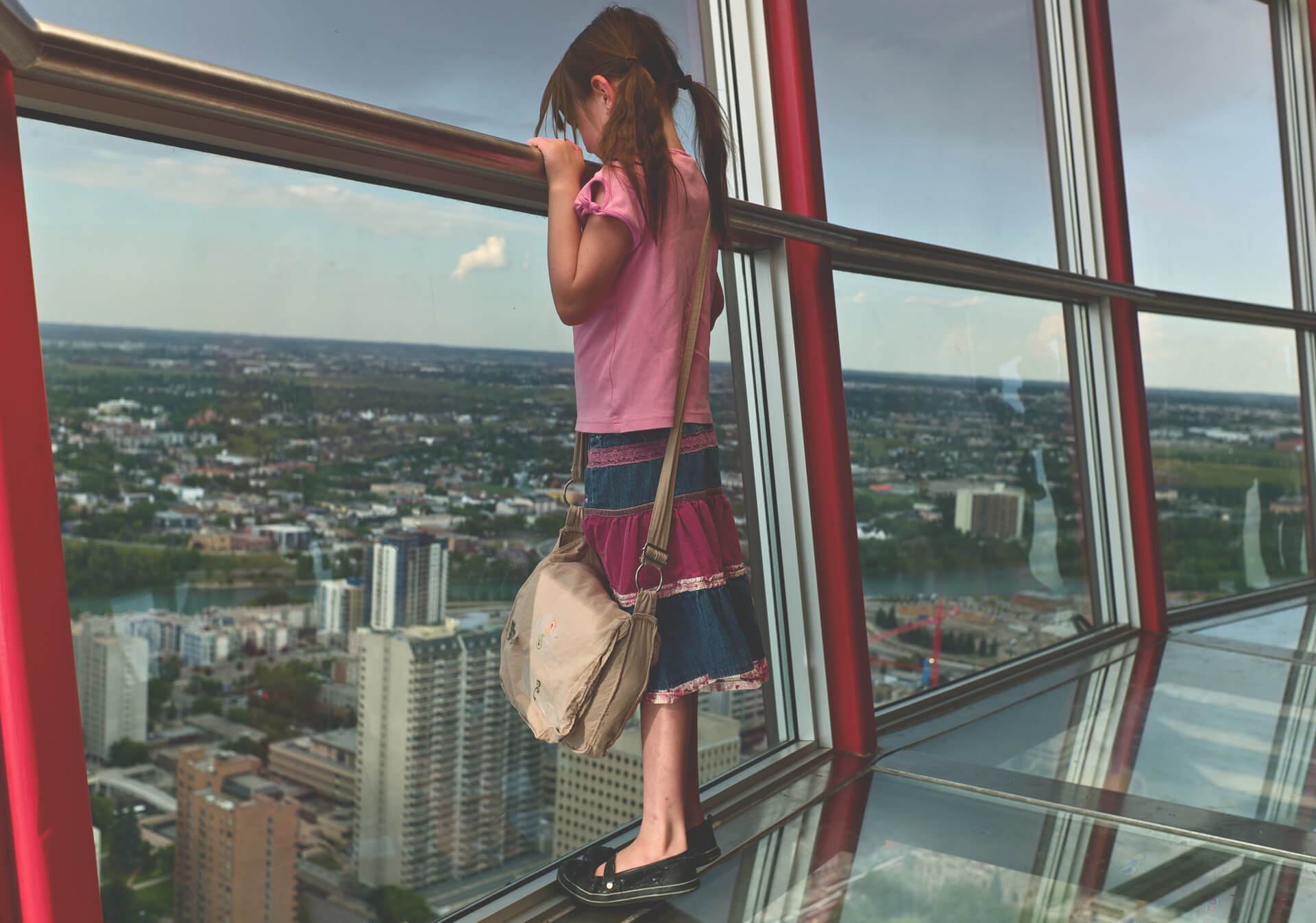 Get 360° views from the observation deck of the Calgary Tower