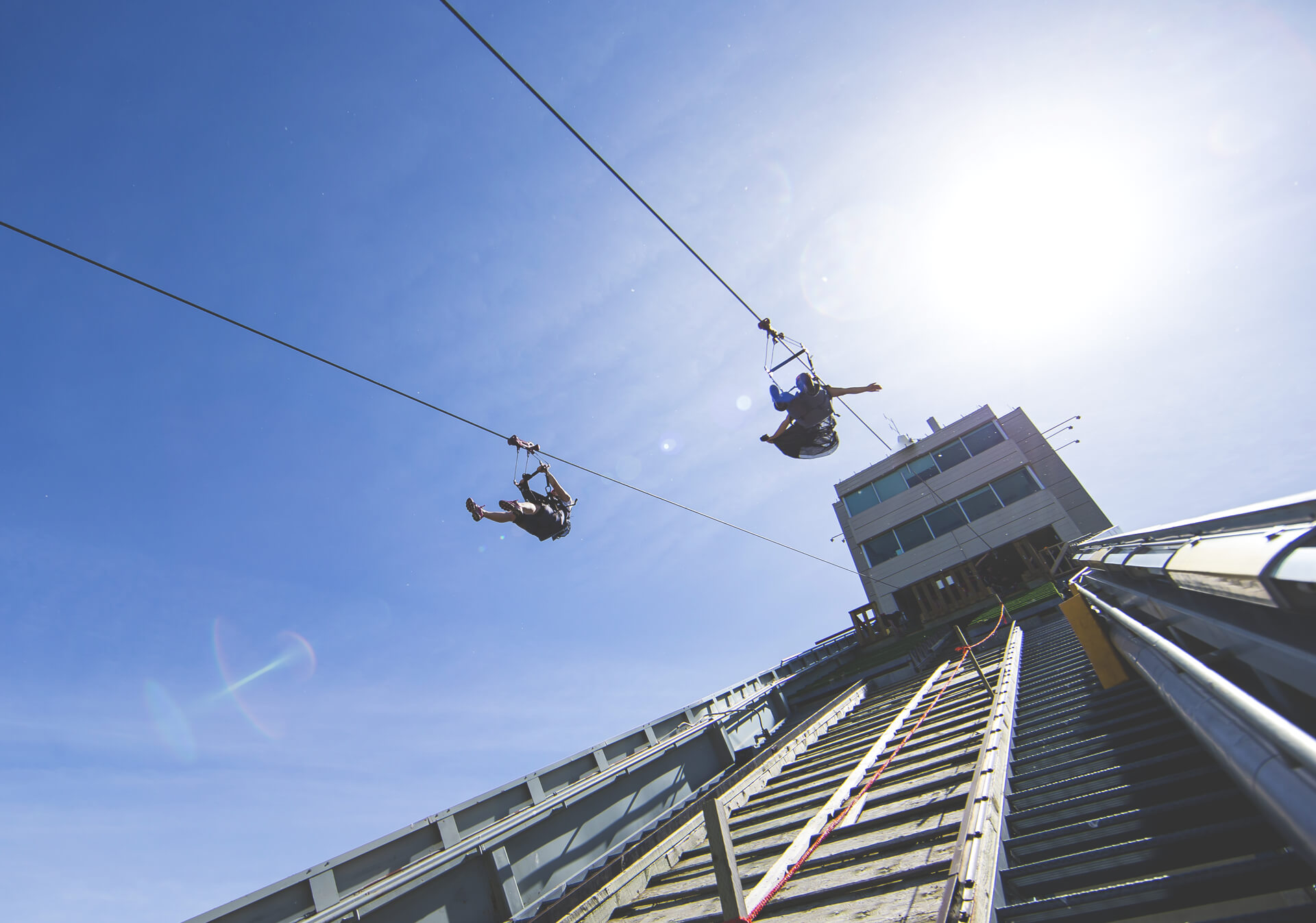 Feel the rush of North America's fastest zipline at WinSport.