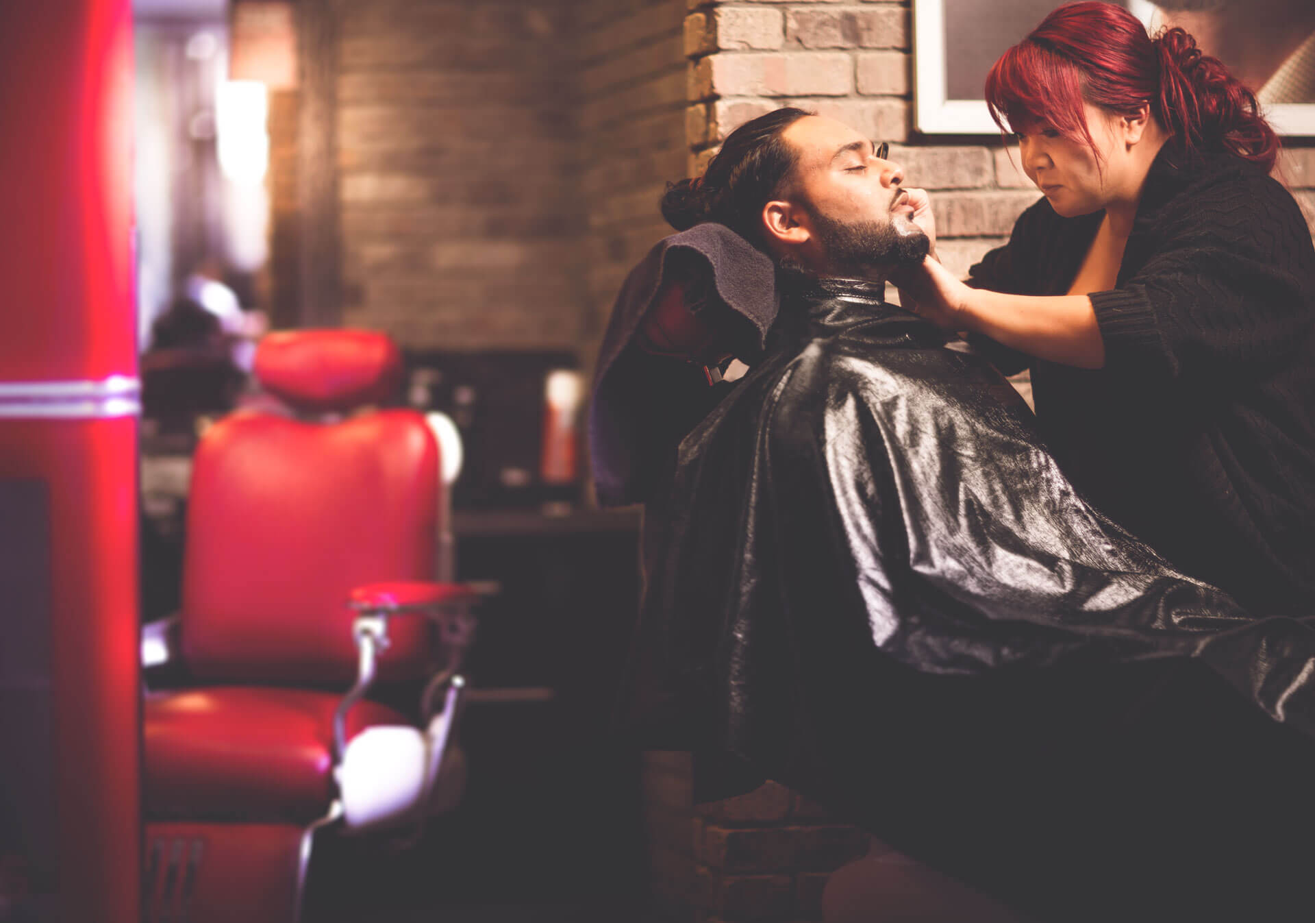 Get a hot shave at Tommy Gun's Original Barber Shop at The CORE Shopping Centre.