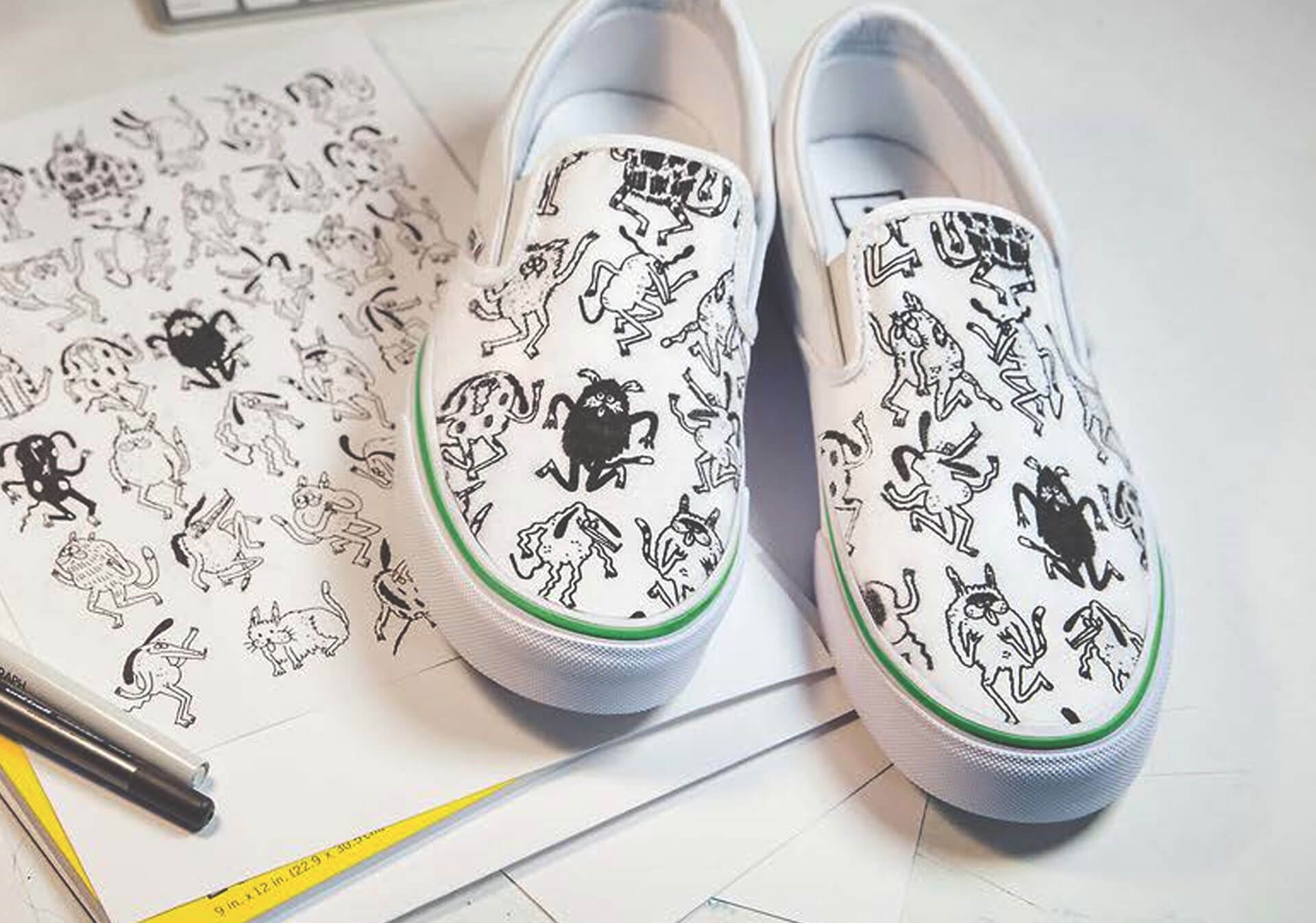 Create your own custom pair of Vans with the help of local artists in Calgary