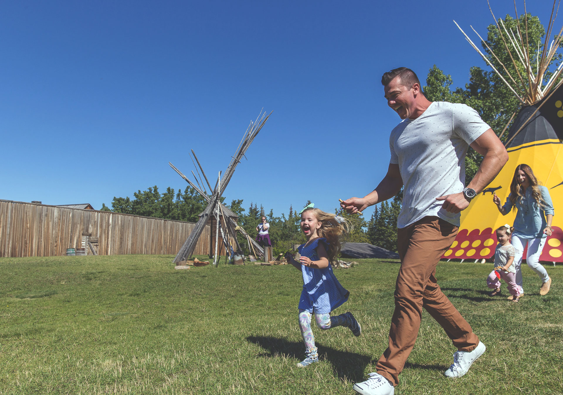 First Nations Encampment at Heritage Park
