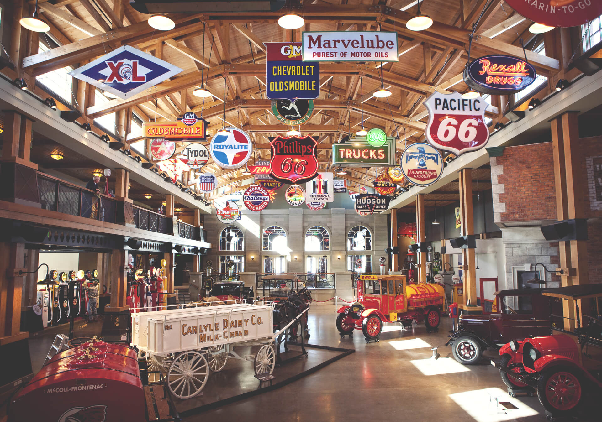 Classic cars at Gasoline Alley at Heritage Park