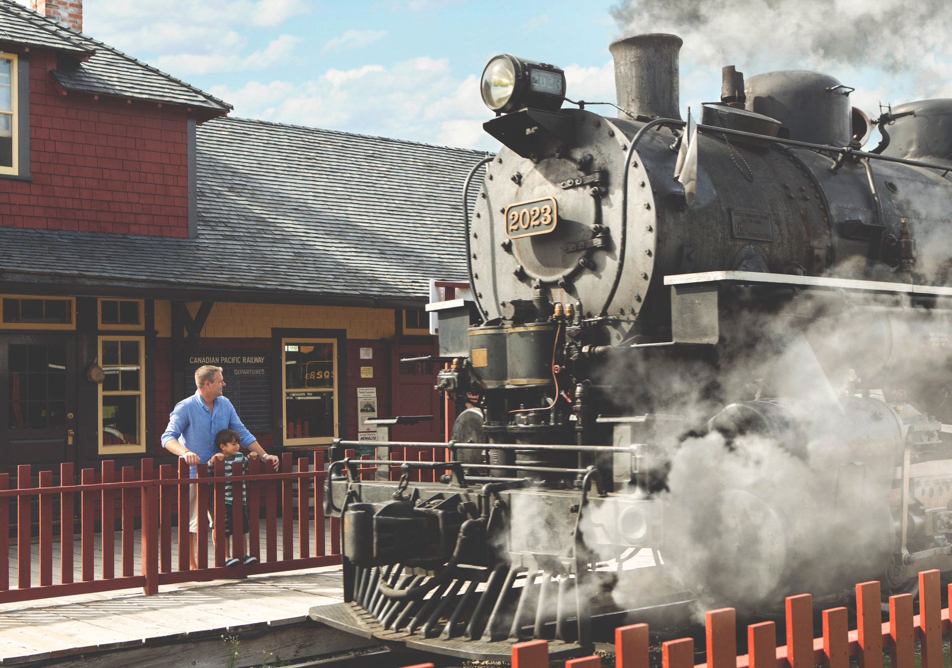 Heritage Park Steam Train