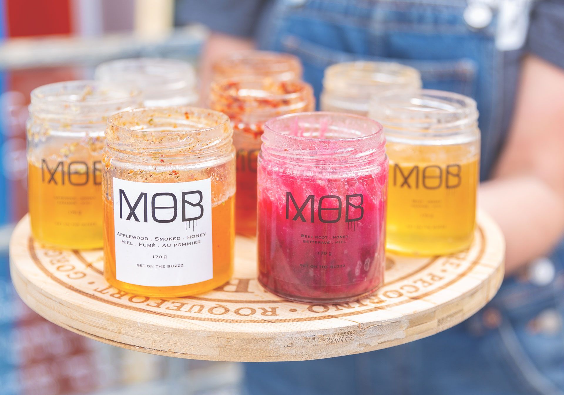 MOB raw, local honey blends