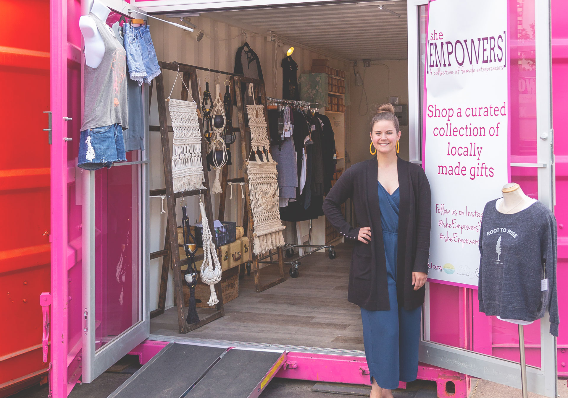 Alora Boutique's, She[Empowers] EV Junction pop up container shop