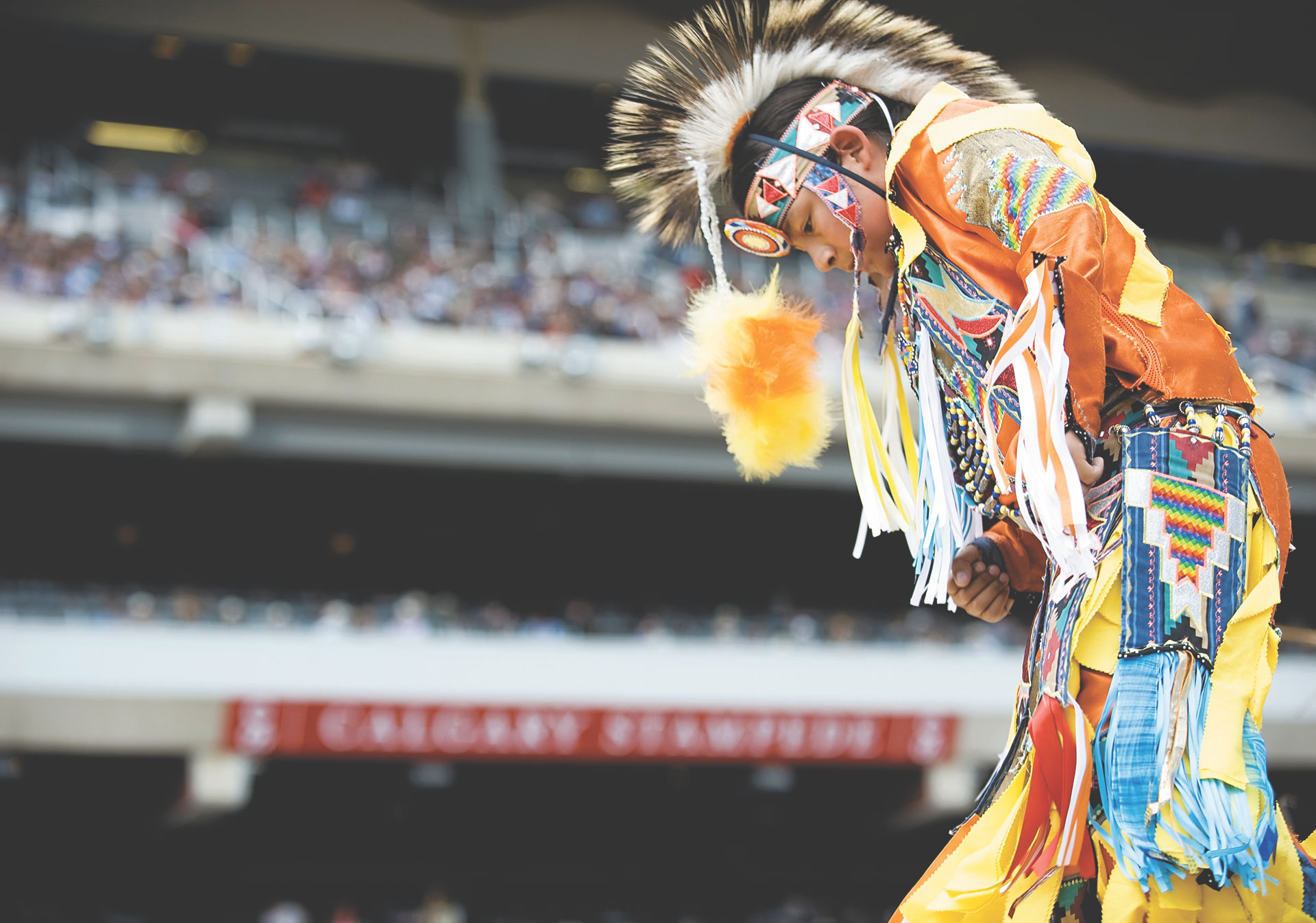 Experience First Nations culture at the Calgary Stampede.
