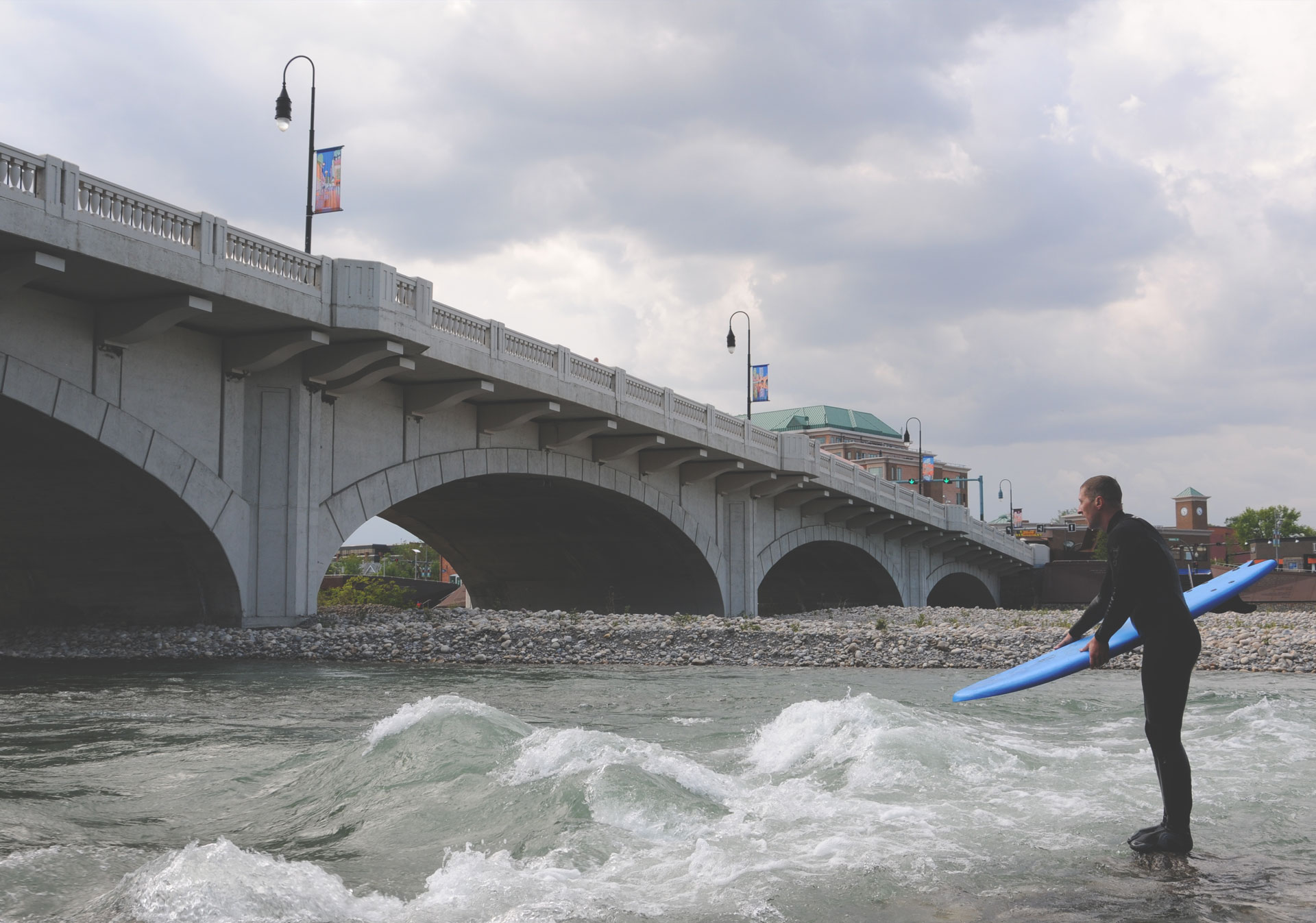 River Surfing on the Bow River