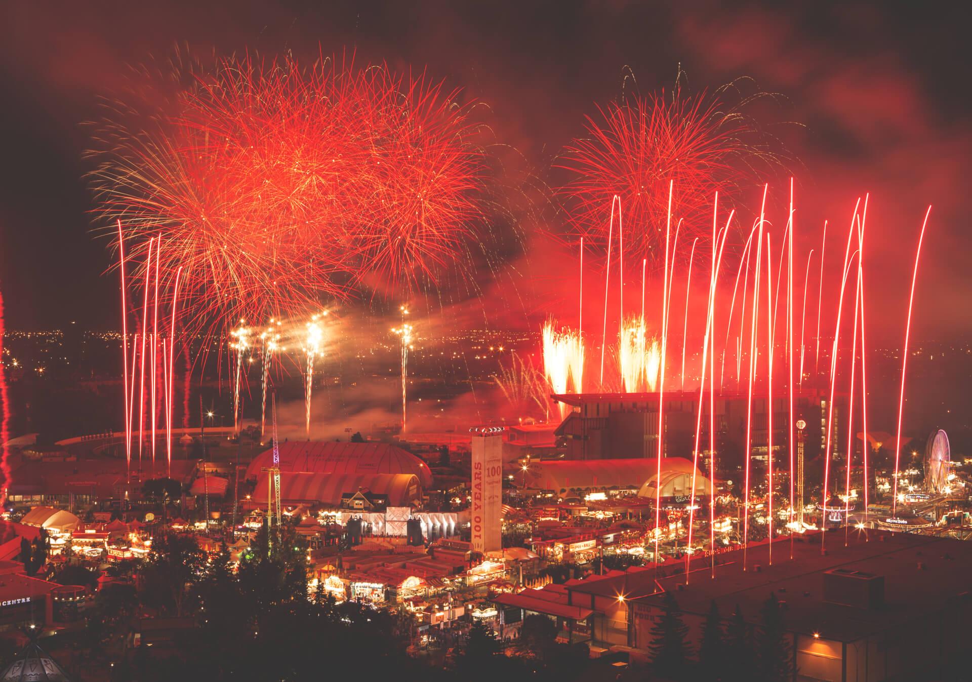 Canada Day Fireworks Tourism Calgary