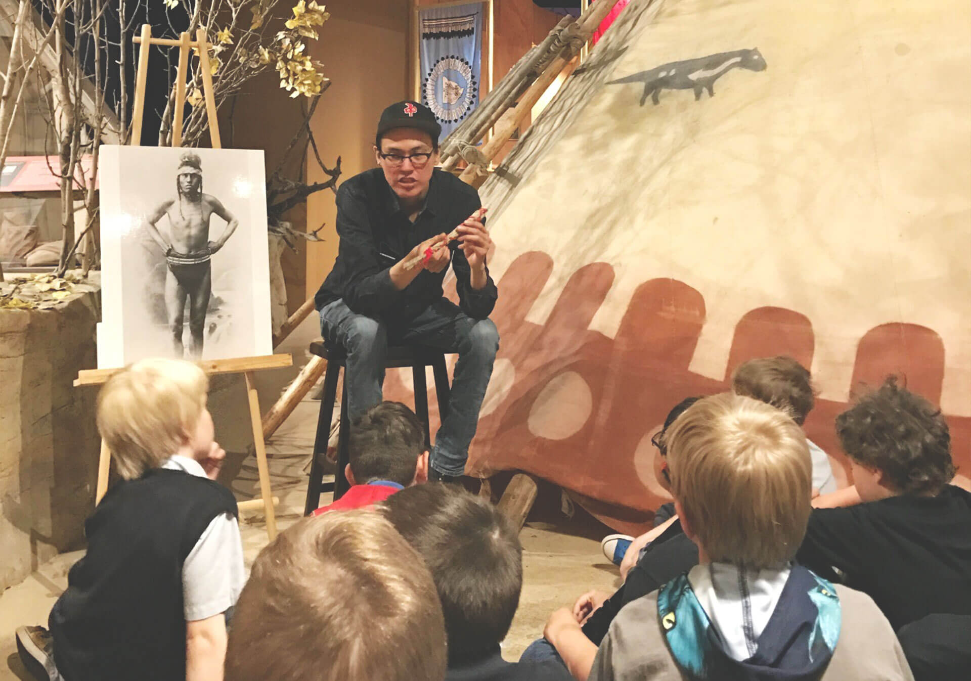 Story telling at the Glenbow Museum