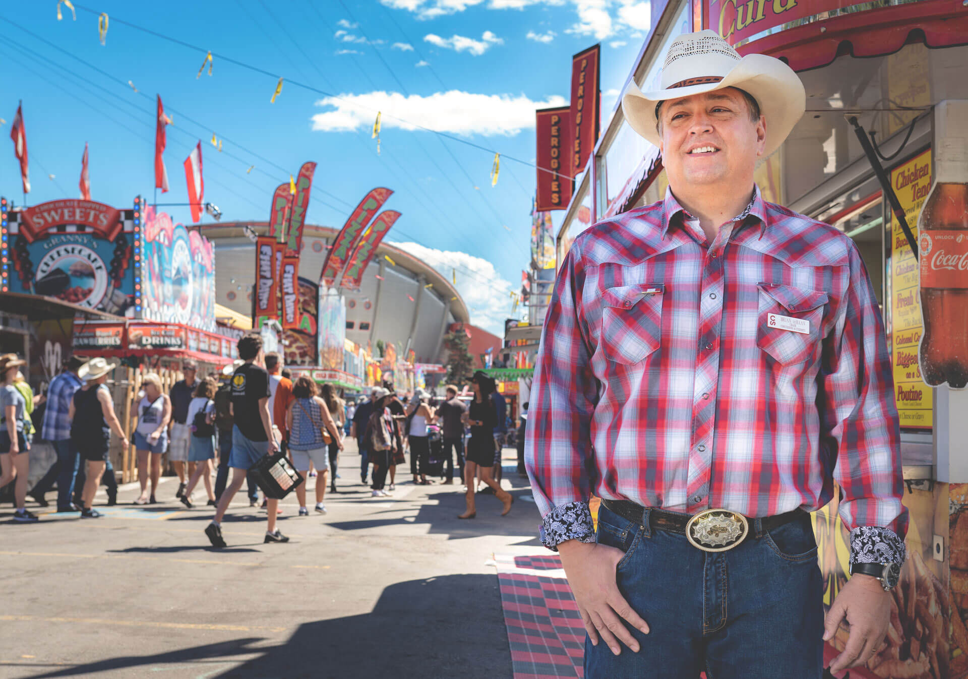 Brian deHaan is a second generation volunteer with the Calgary Stampede. (Photo credit: Trevor Lalonde)