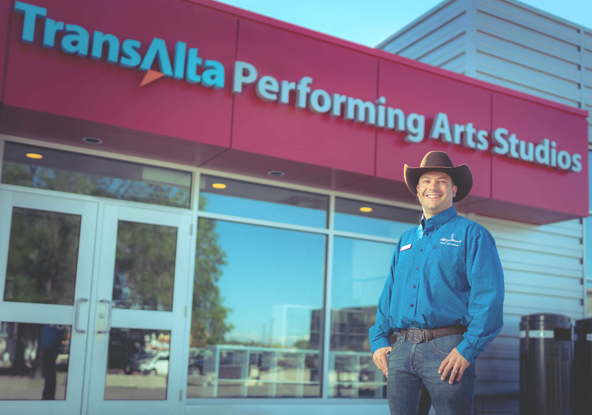 Shane Ellis has been volunteering with the Calgary Stampede since he first auditioned with the Young Canadians as a teenager. (Photo credit: Trevor Lalonde)
