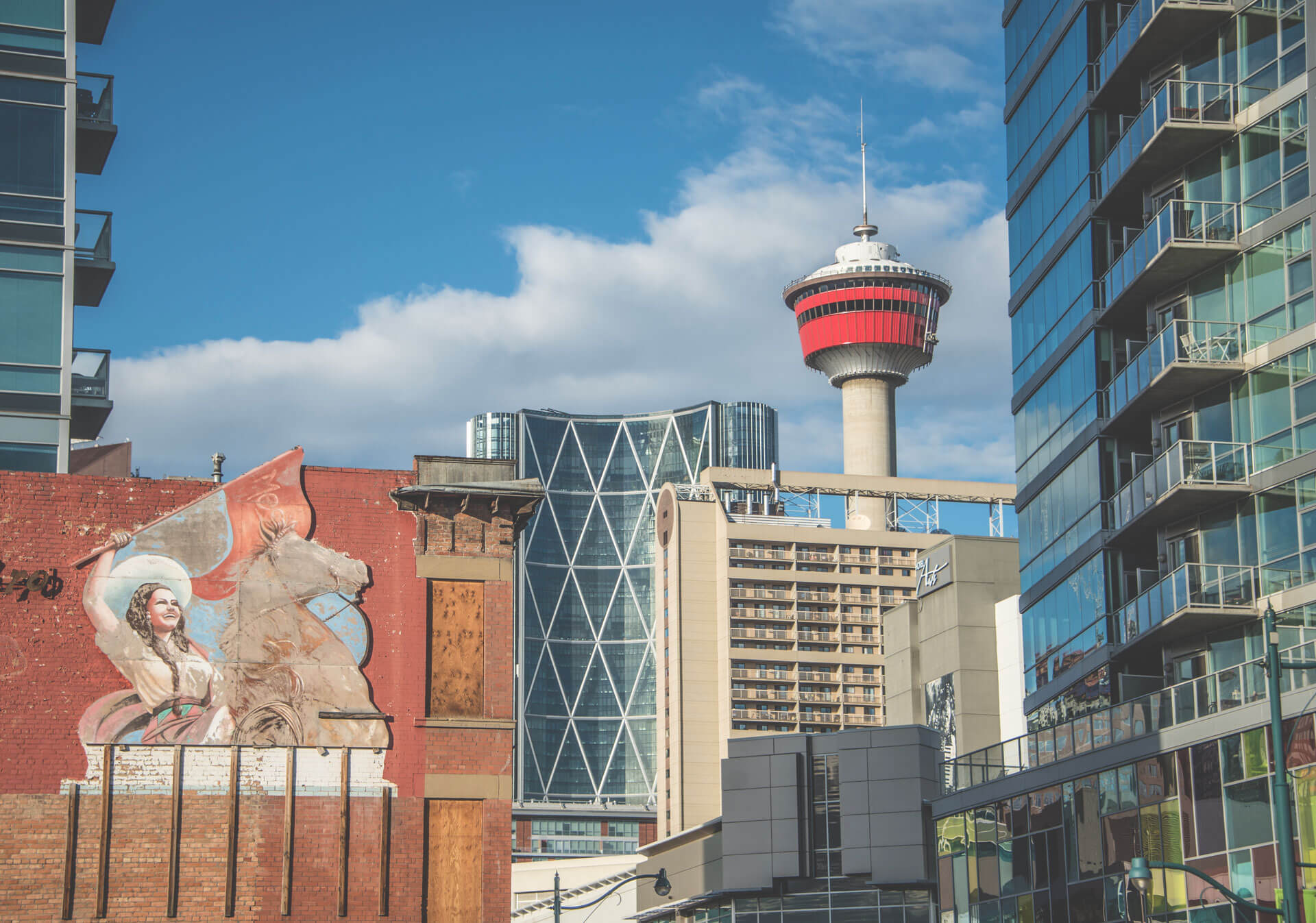 Cityscape of Calgary Tower