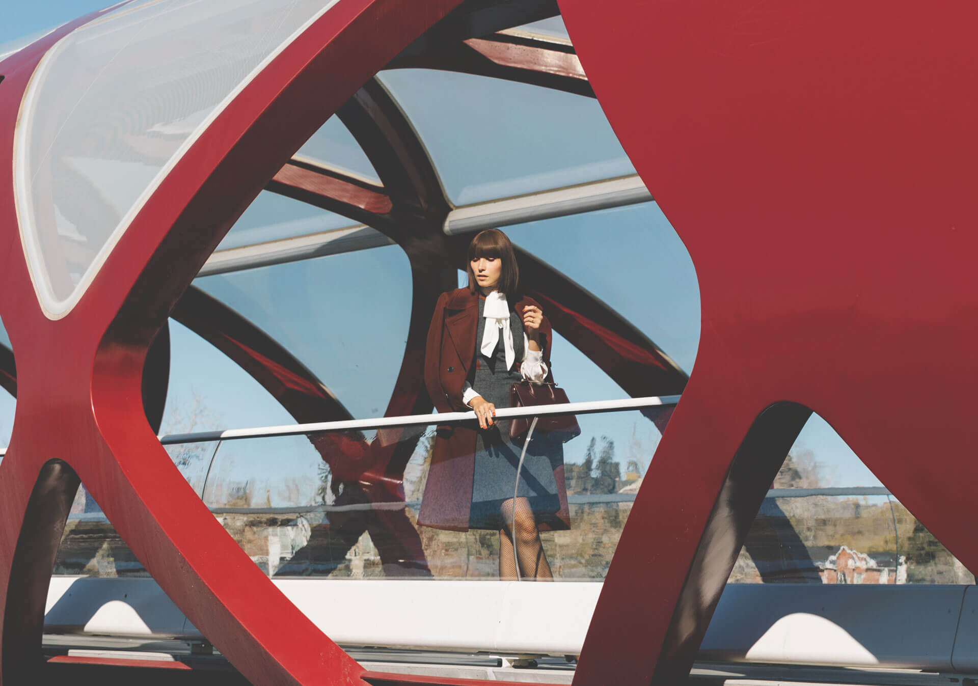 Ania B posing at the Peace Bridge