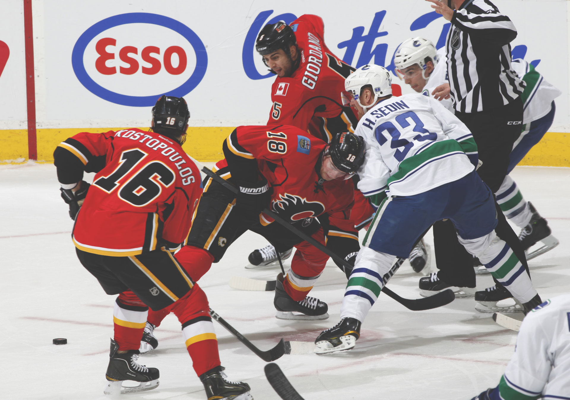NHL Calgary Flames action