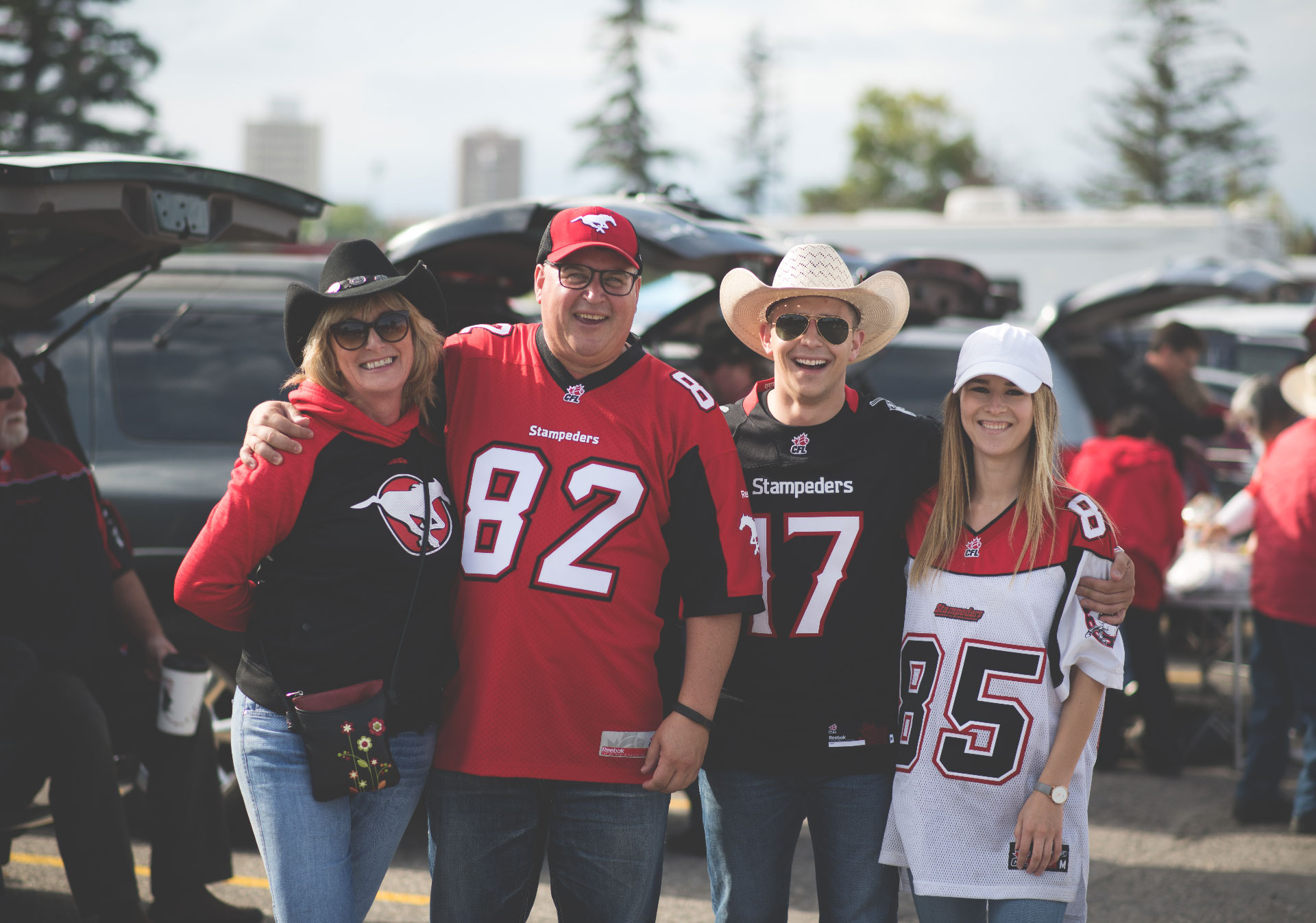 Calgary Stampeder fans tailgate