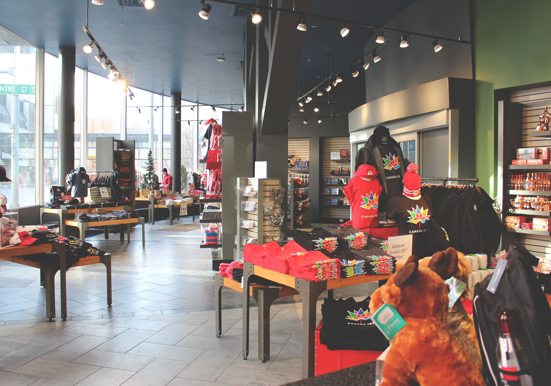 The Gift Shop at the base of the Calgary Tower.