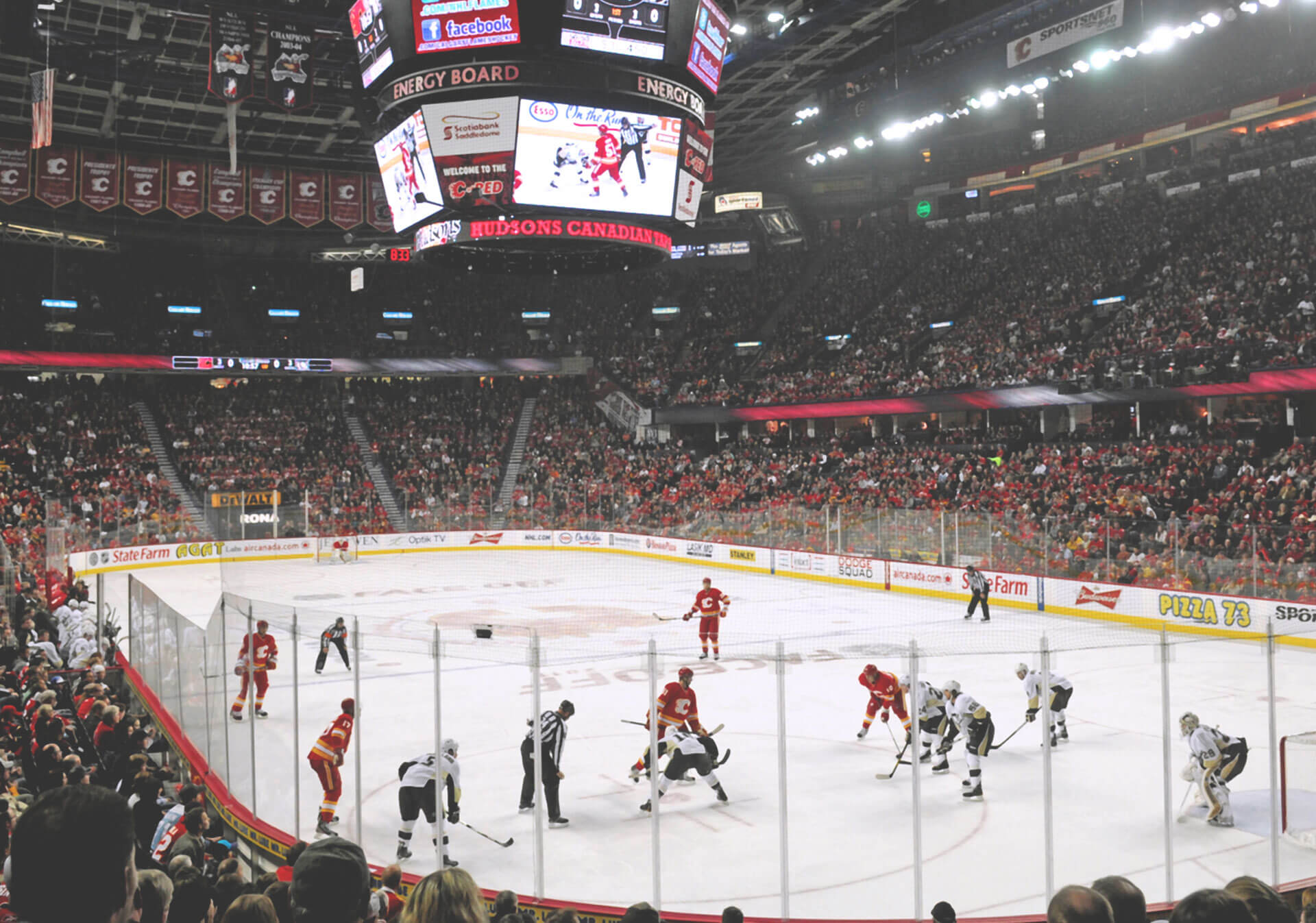 NHL action at the Scotiabank Saddledome.