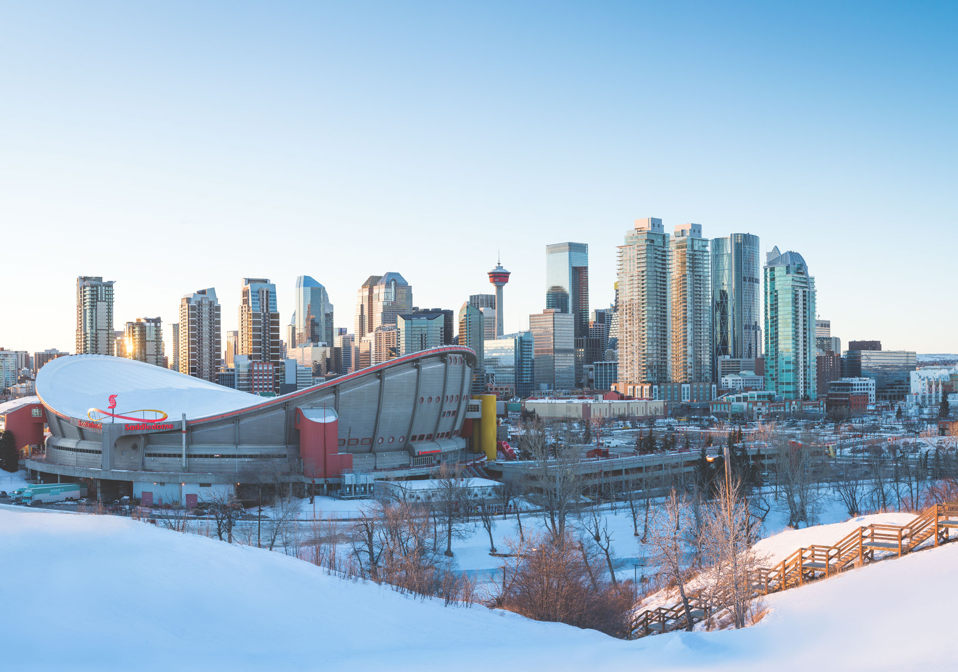 A winter day in Calgary