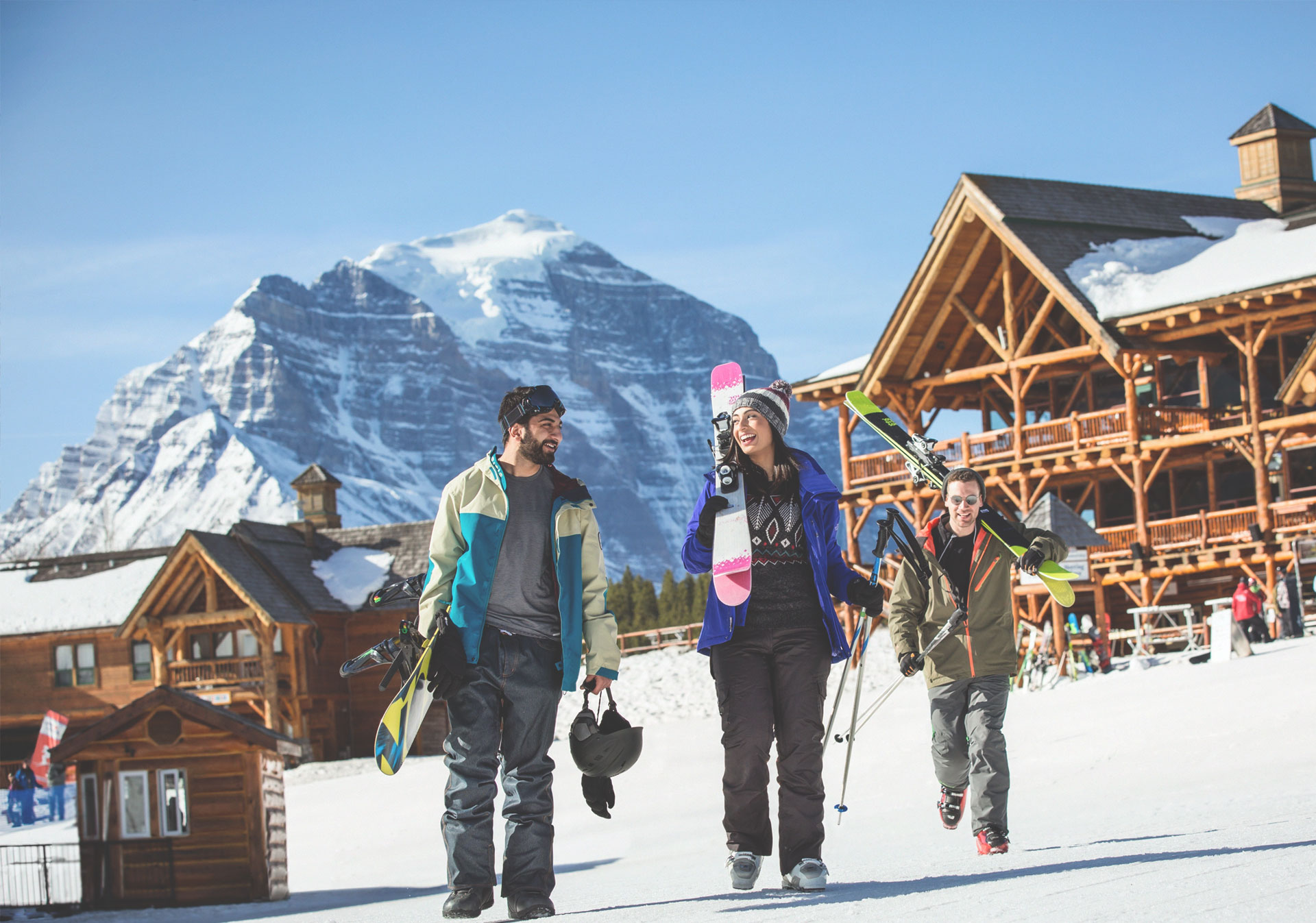 Lake Louise Ski Resort is perfect for all skill levels (Photo credit: Travel Alberta/Noel Hendrickson).
