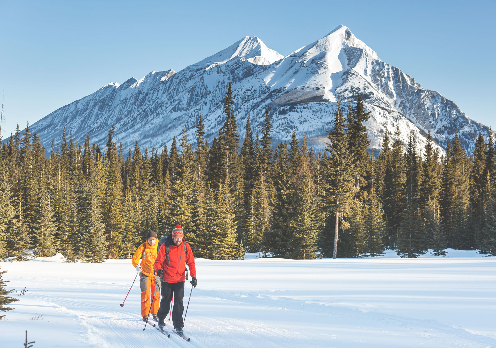 Groomed trails at the Canmore Nordic Centre (Photo credit: Matthew Clark).