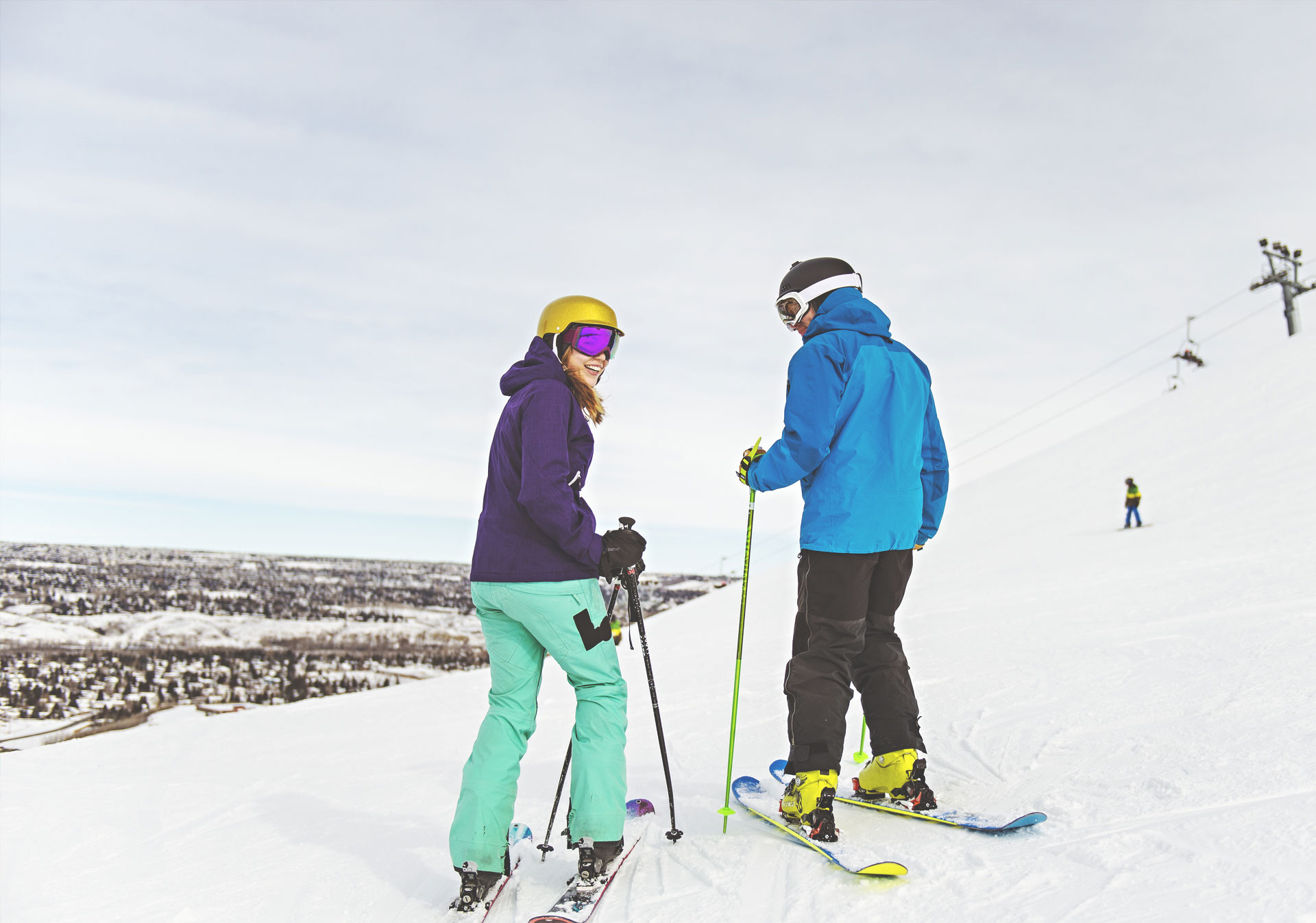 Play in the city at WinSport (Photo credit: Travel Alberta/A.V. Wakefield).