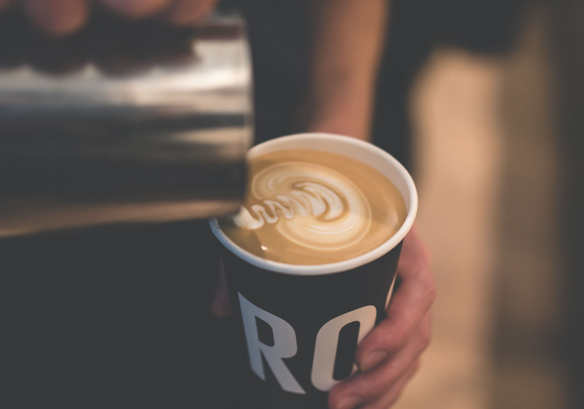 Get a premium coffee fix at Rosso Coffee Roasters.