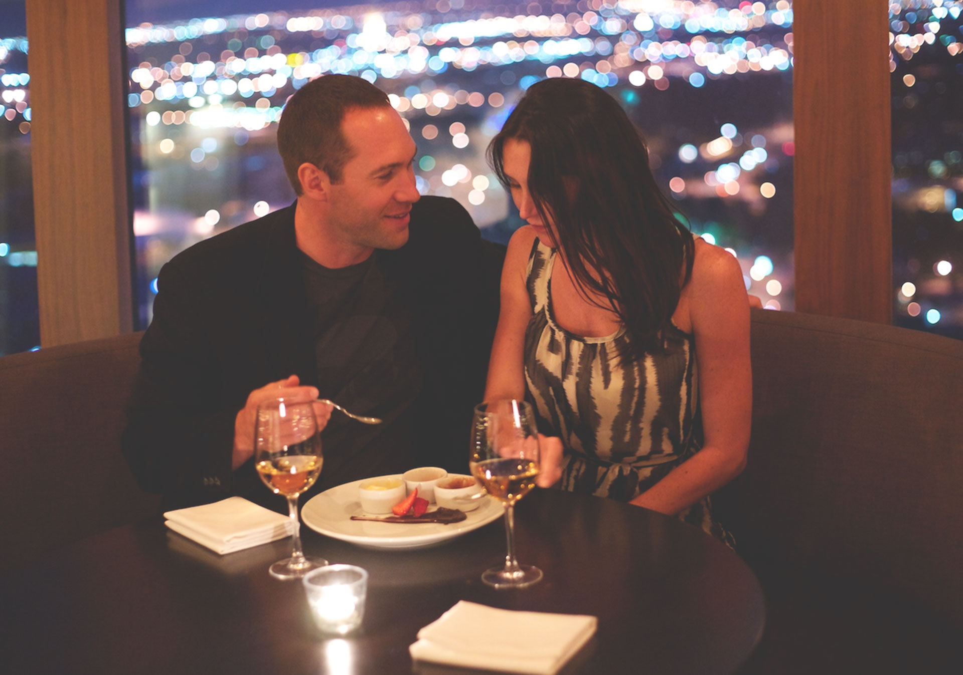 Take Valentine's to new heights with a candle lit dinner at Sky 360.