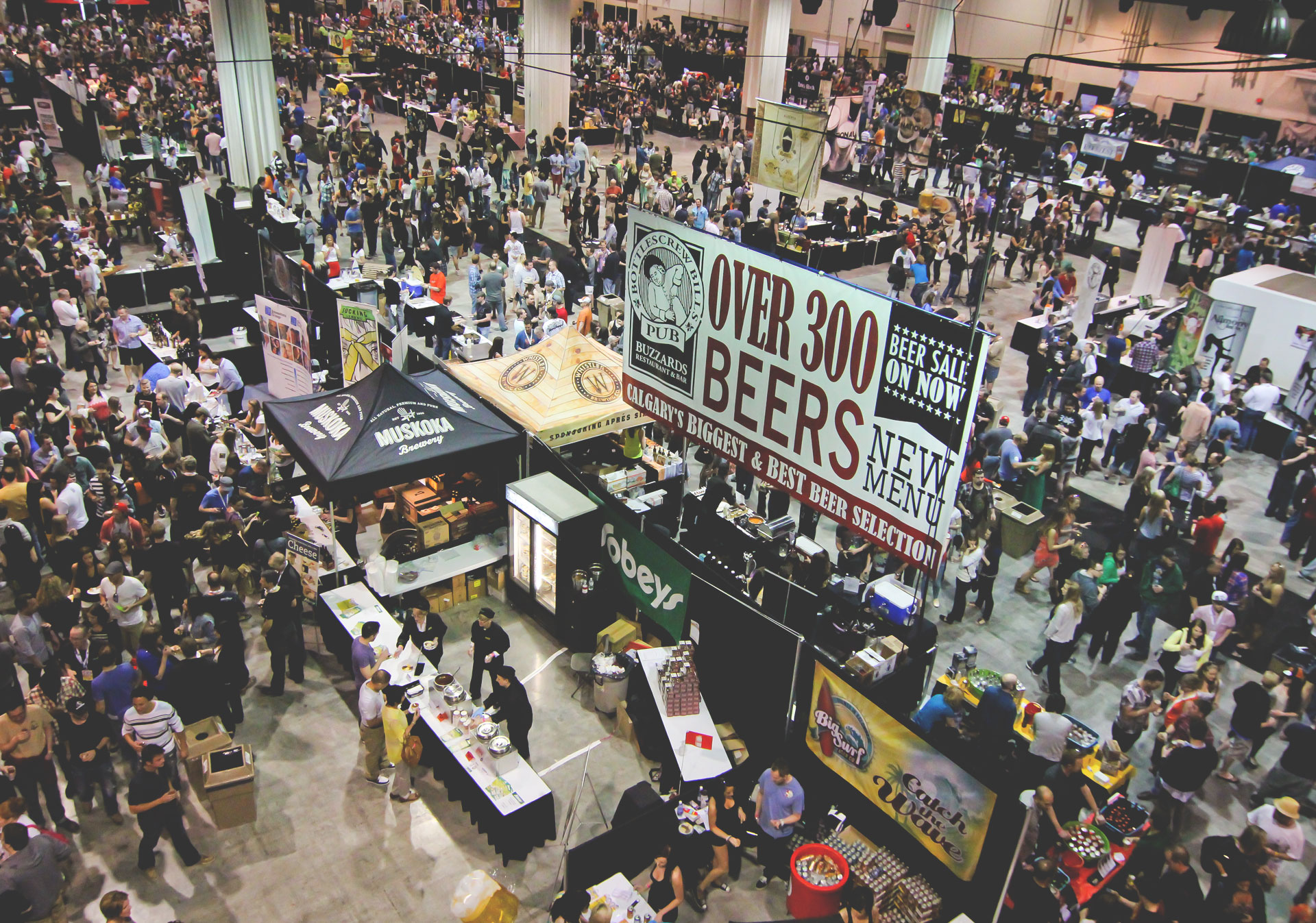 Drink local craft beer at the Calgary International Beer Festival.