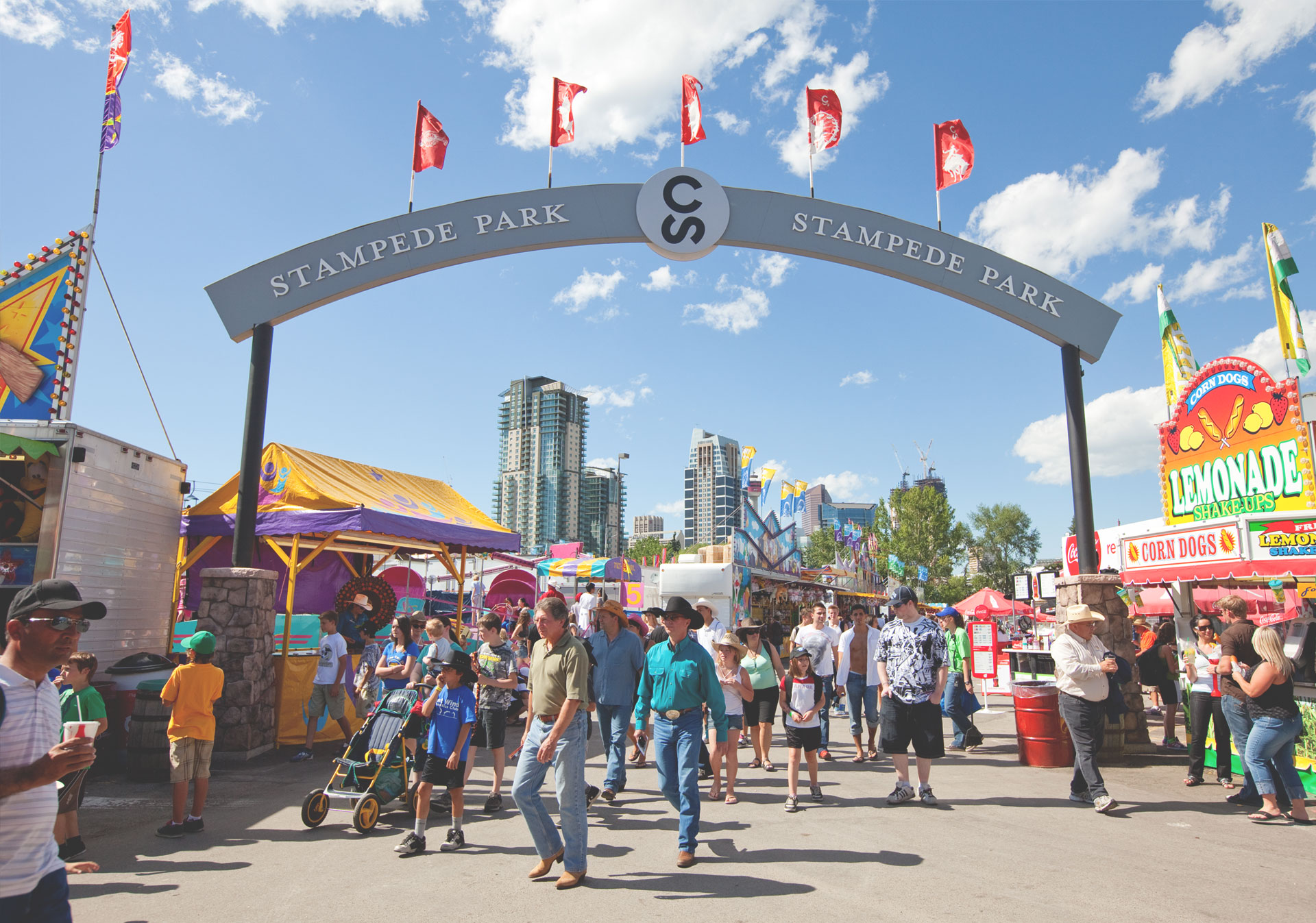 Fun on the Midway at the Calgary Stampede.