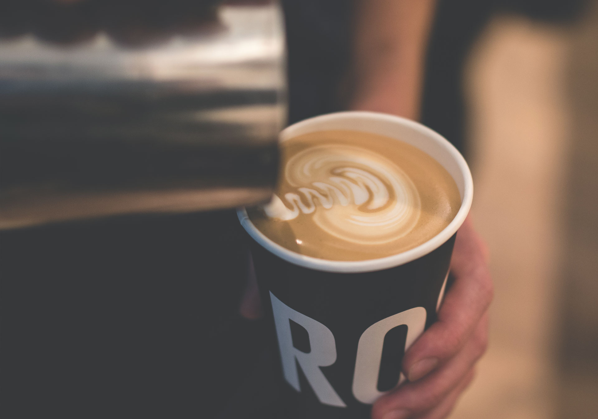 Start your day with coffee from Rosso Coffee Roasters.