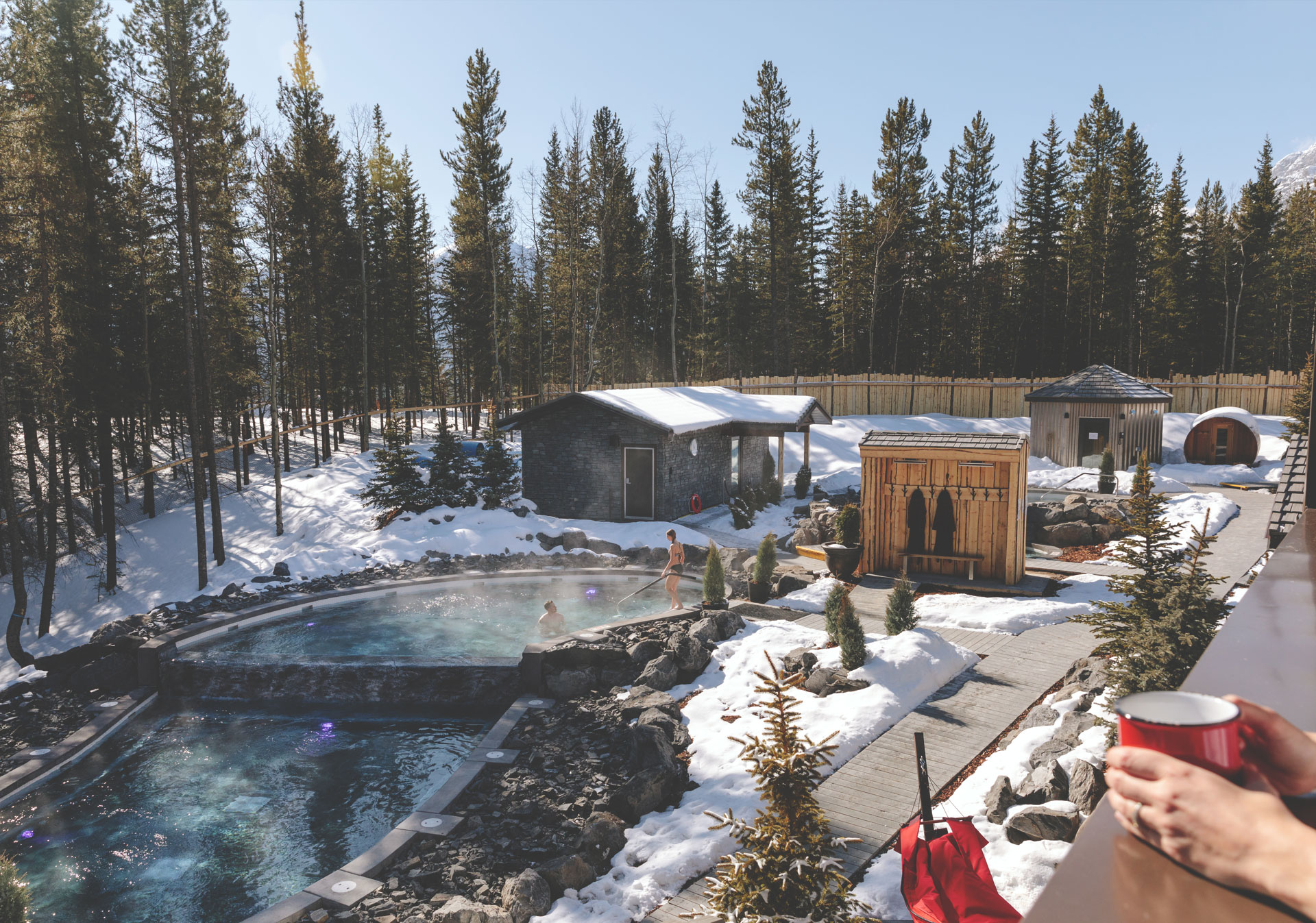 Enjoy a unique Scandinavian hydrotherapy experience (Photo credit: Travel Alberta/Mike Seehagel).