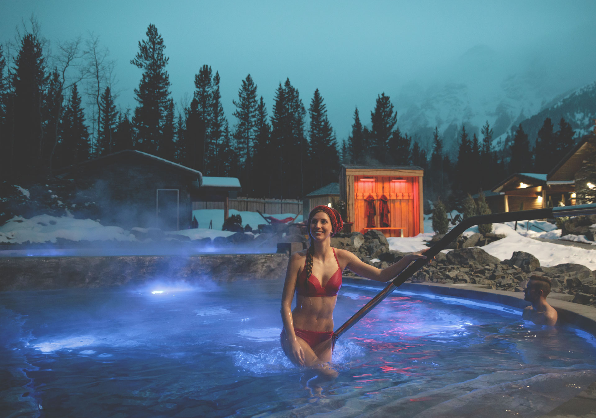 You can purchase a day pass at the Spa Lodge reception desk (Photo credit: Travel Alberta/Mike Seehagel).