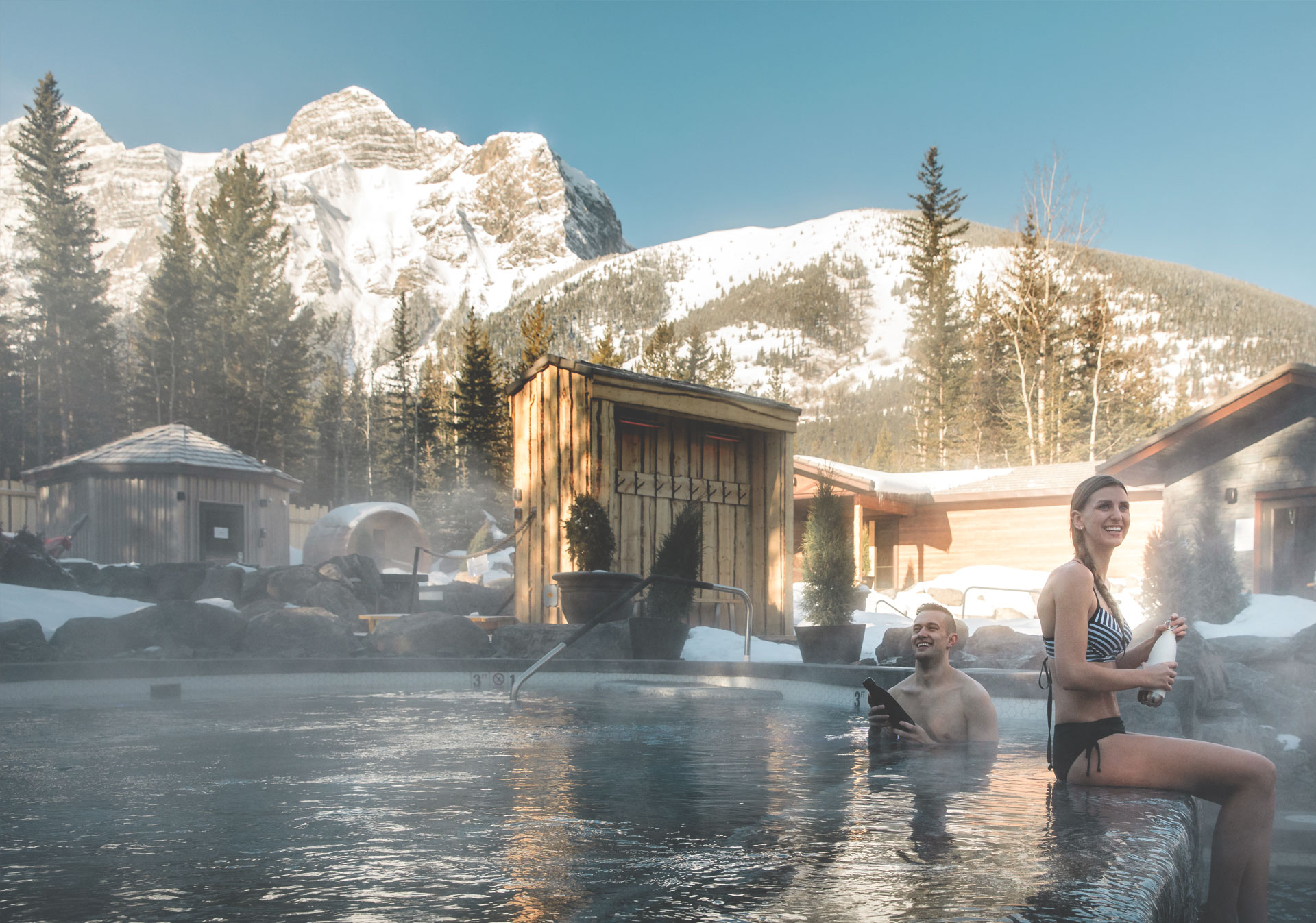 The spa is open 365 days a year (Photo credit: Travel Alberta/Mike Seehagel).