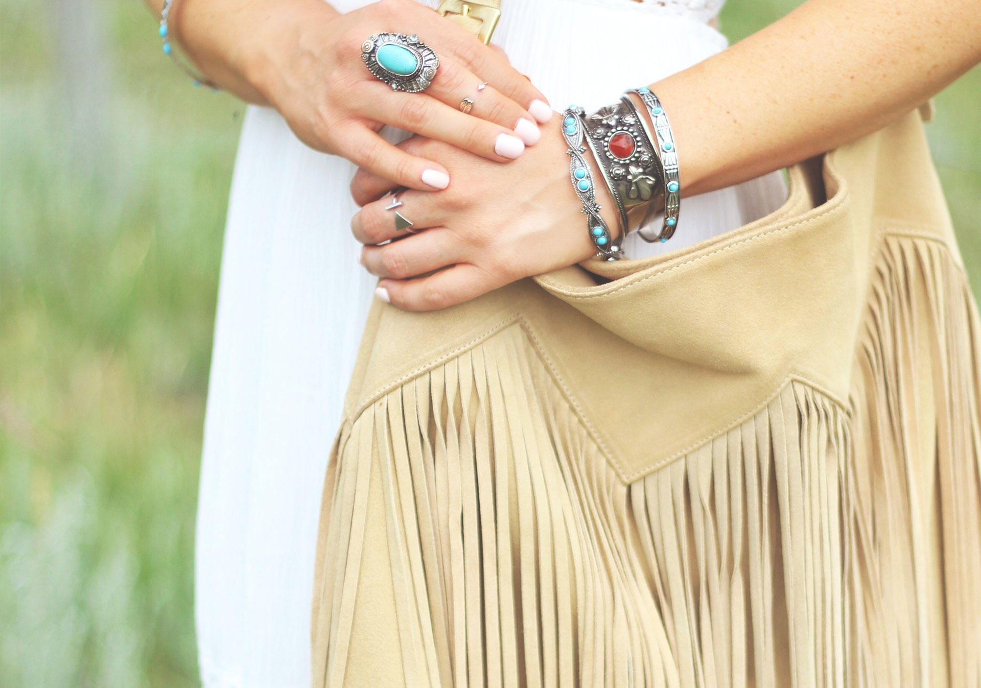 Suede is synonymous with western style and fringe adds a playful touch to any look.