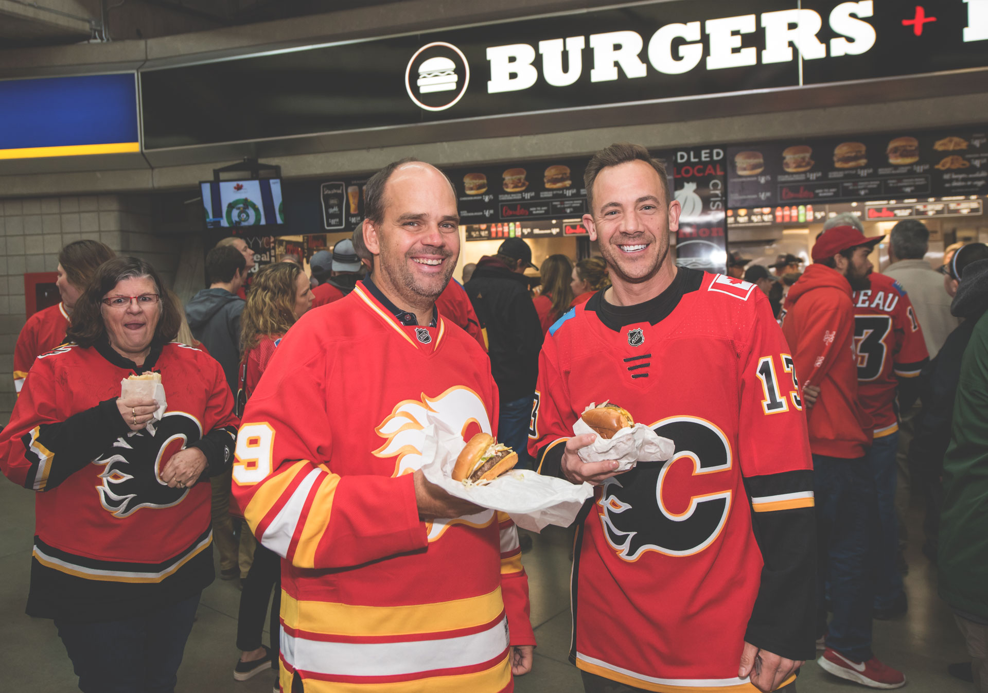 Grab a bite to eat at the Scotiabank Saddledome.