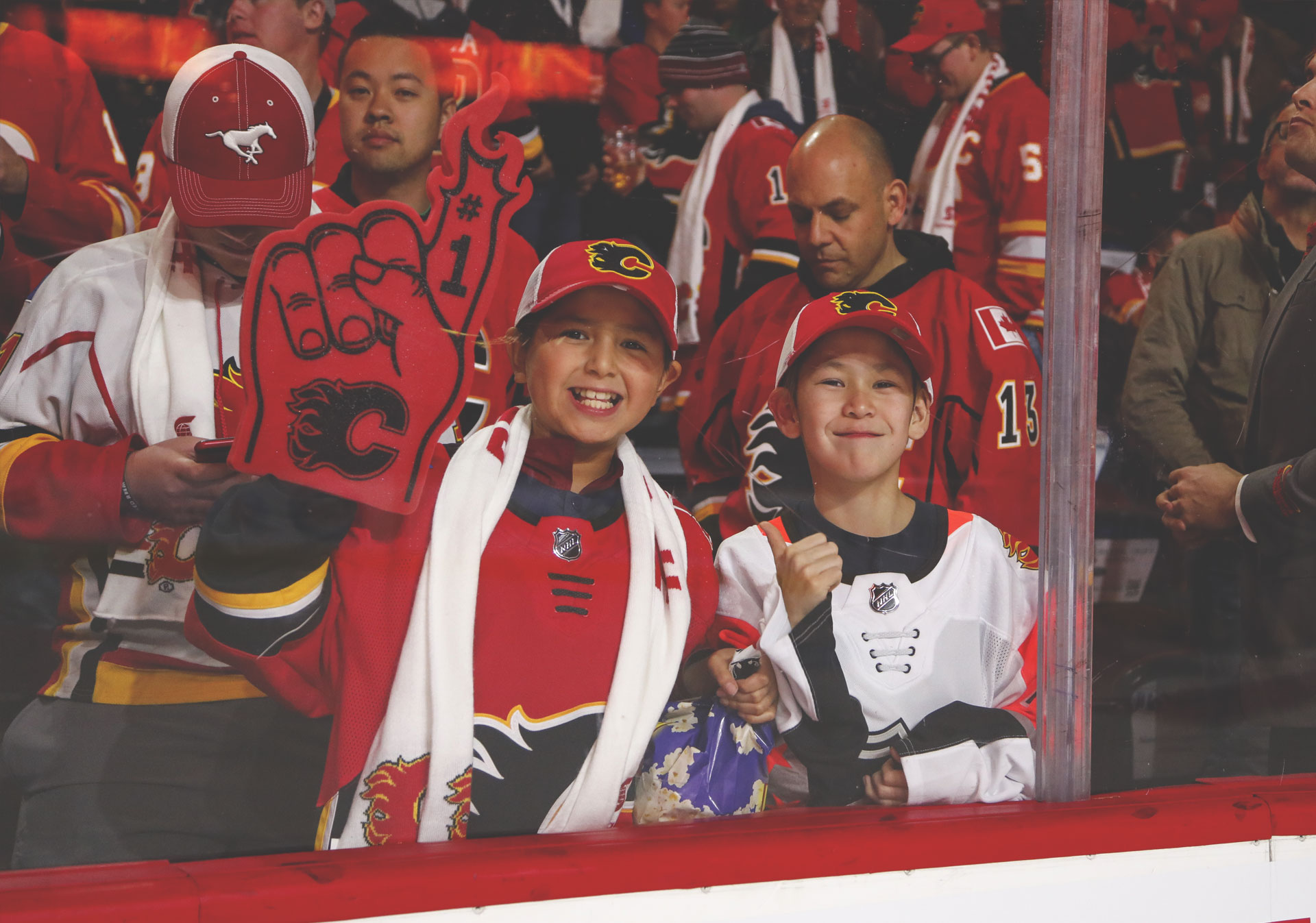 Calgary Flames games at the Scotiabank Saddledome are a family friendly experience.