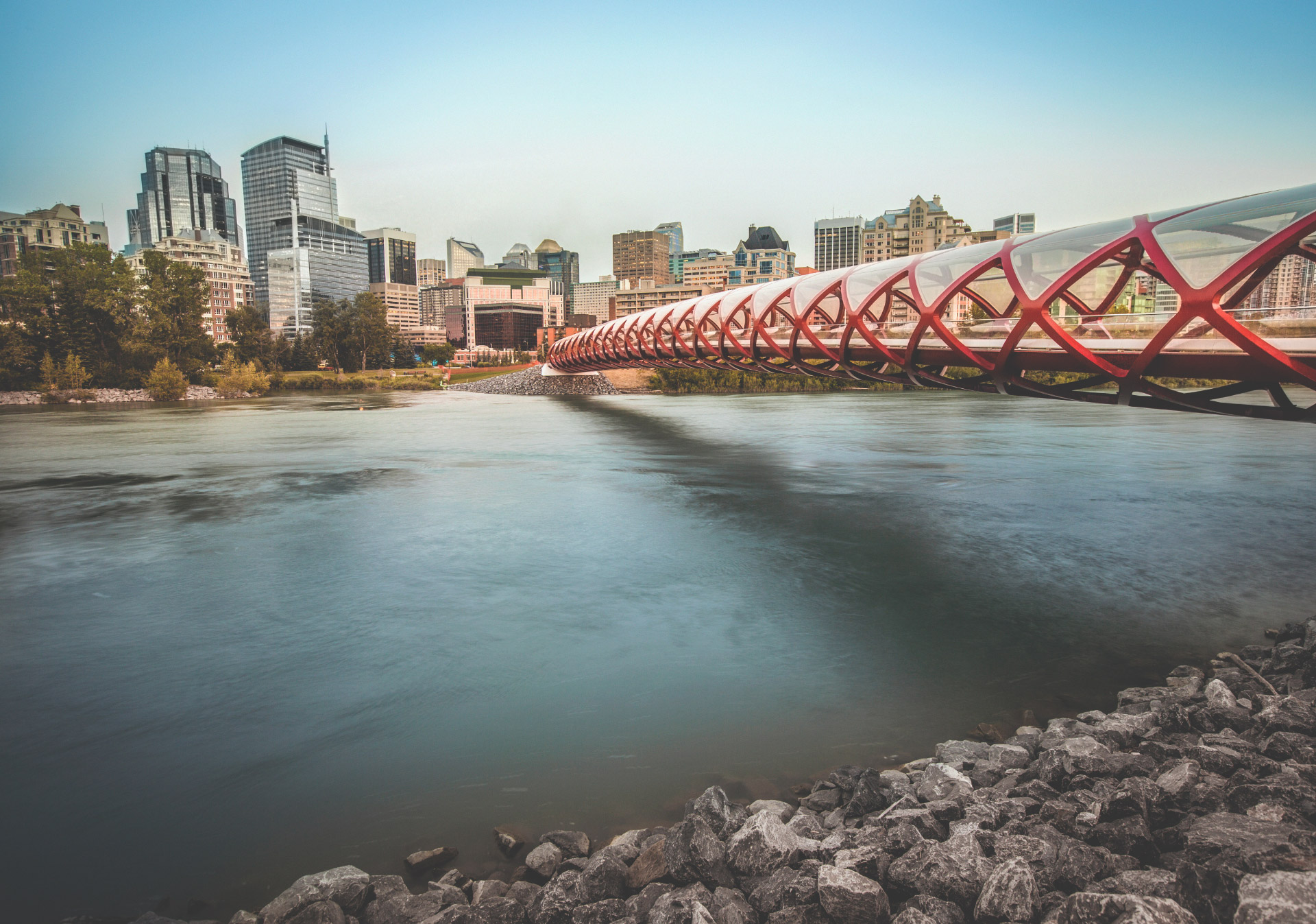 Calgary Peace Bridge Summer