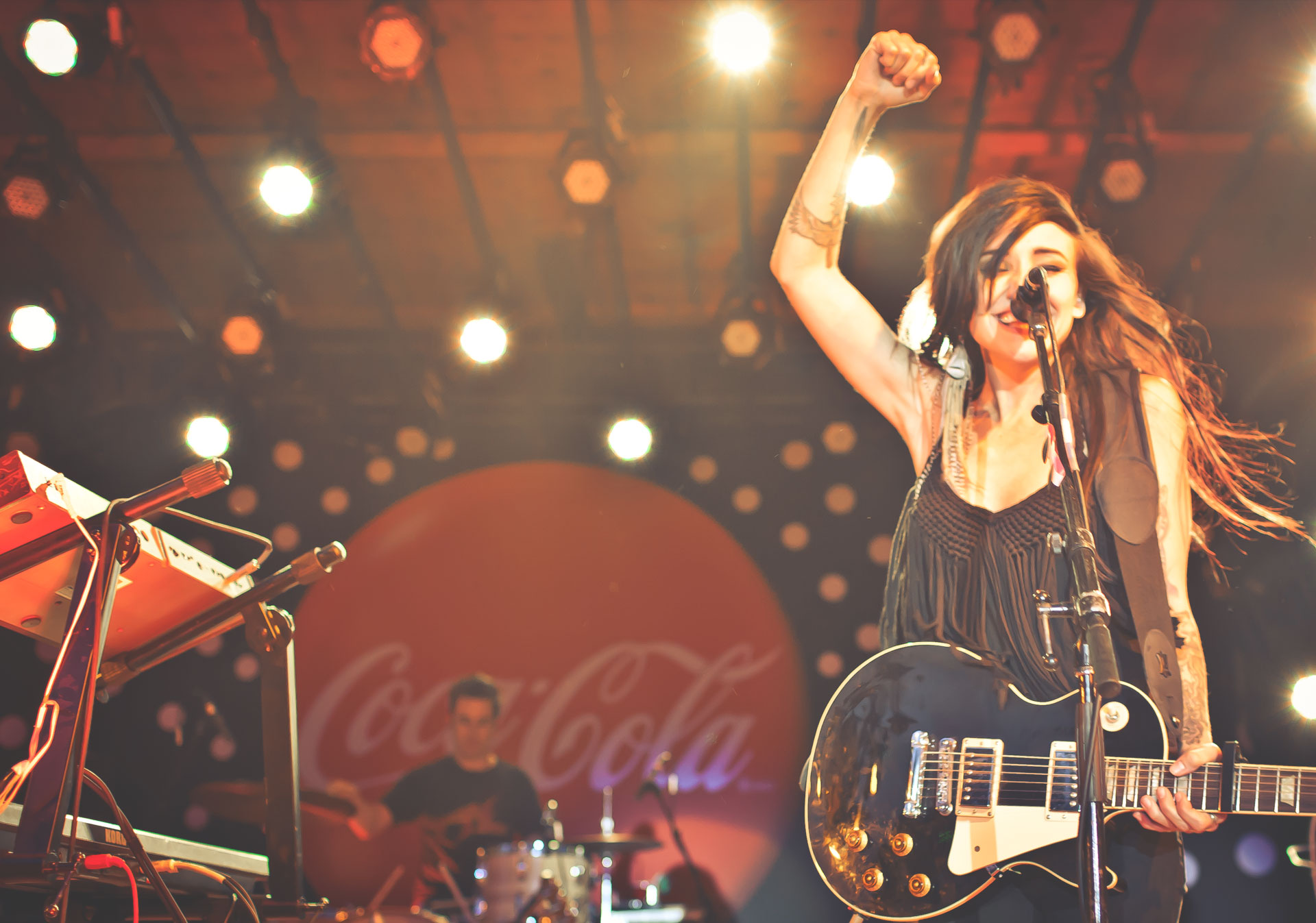 Catch free nightly concerts at the Coca-Cola Stage.
