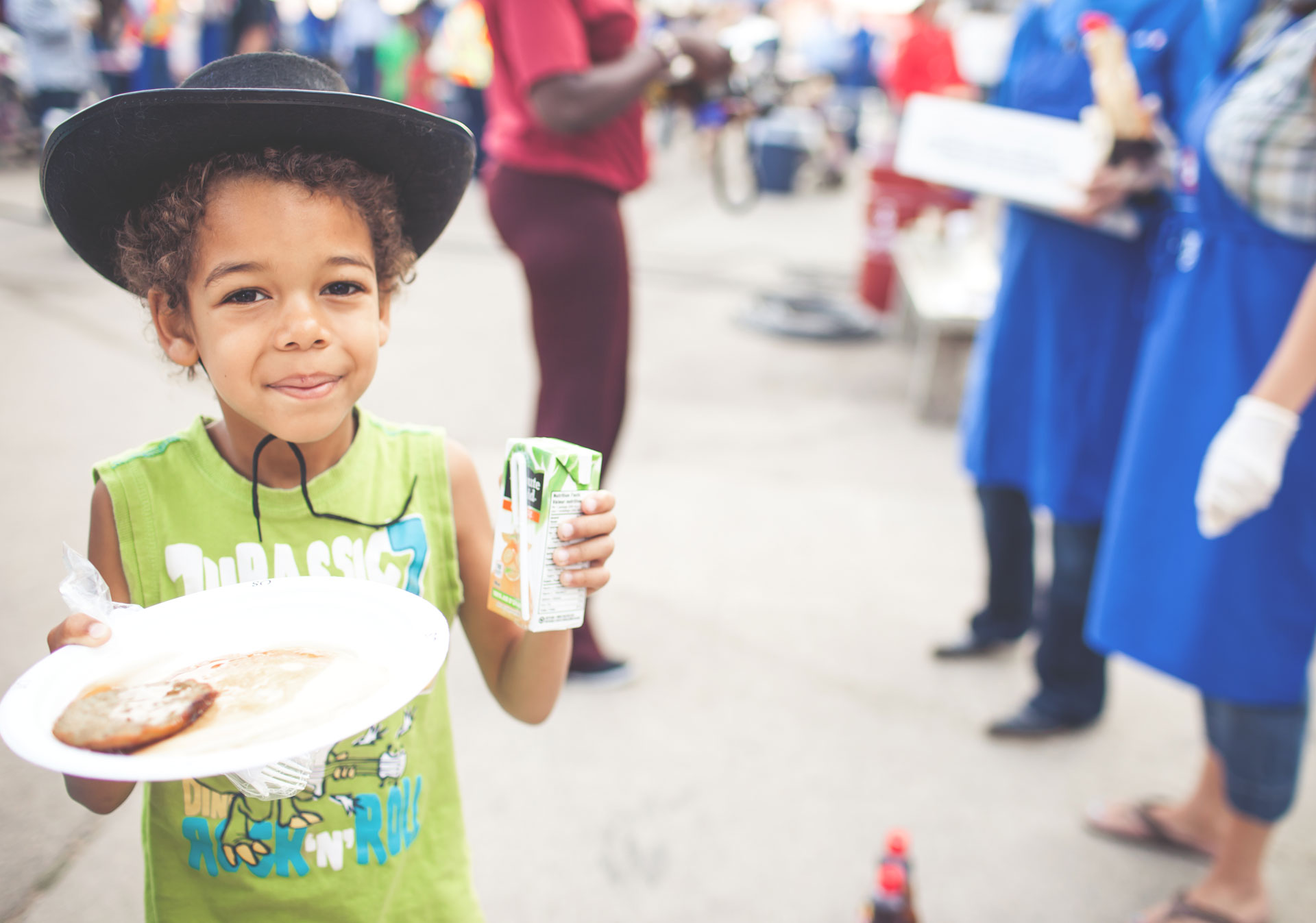 Enjoy a pancake breakfast during the Calgary Stampede.