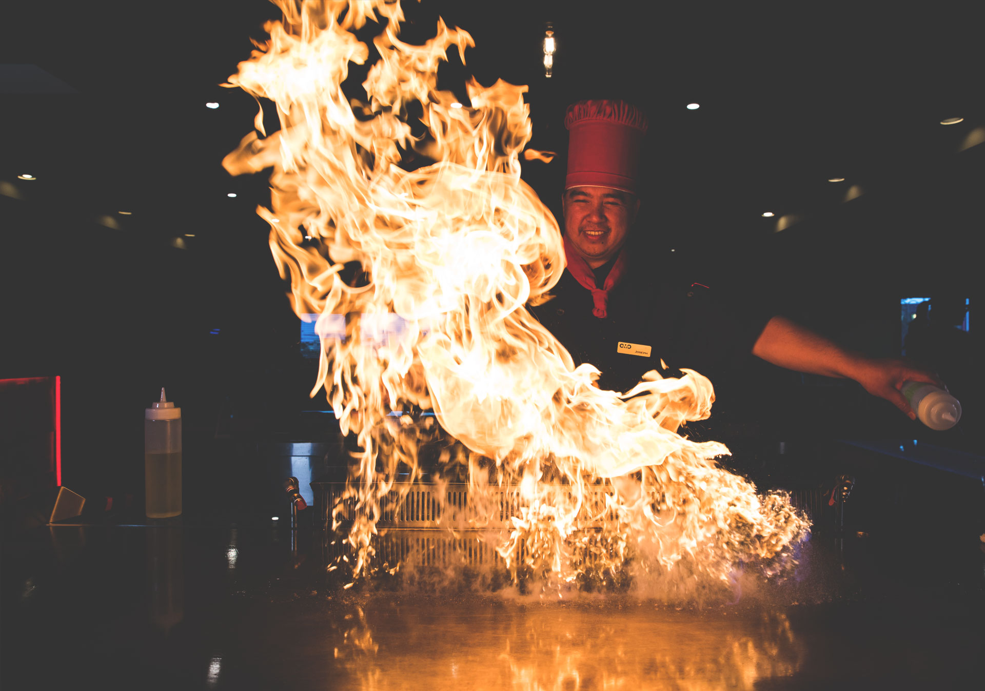 Dinner and a show at OMO Teppan and Kitchen.