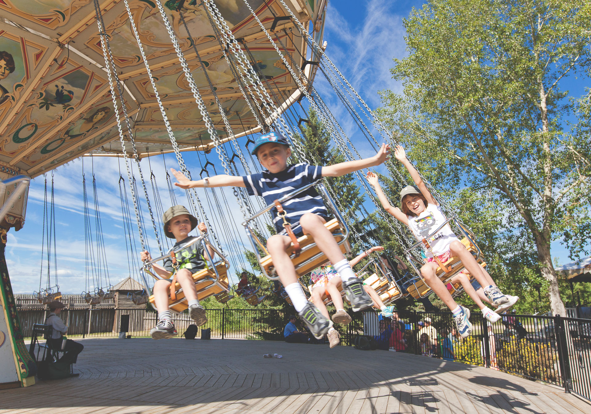 Ride the vintage midway at Heritage Park this summer.