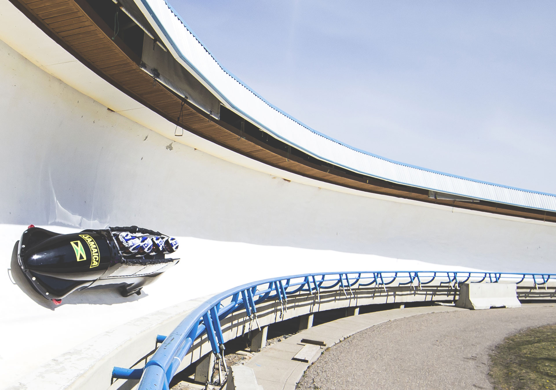 Experience the rush of the summer bobsleigh at WinSport.
