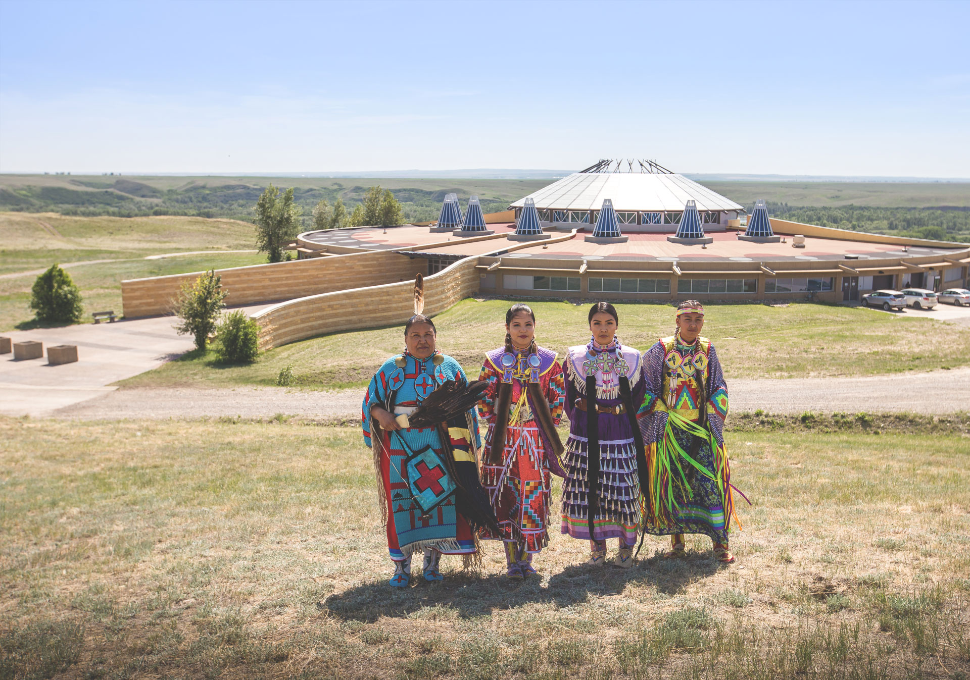 Experience authentic indigenous culture at Blackfoot Crossing Historical Park (Photo credit: Travel Alberta/Katie Goldie).