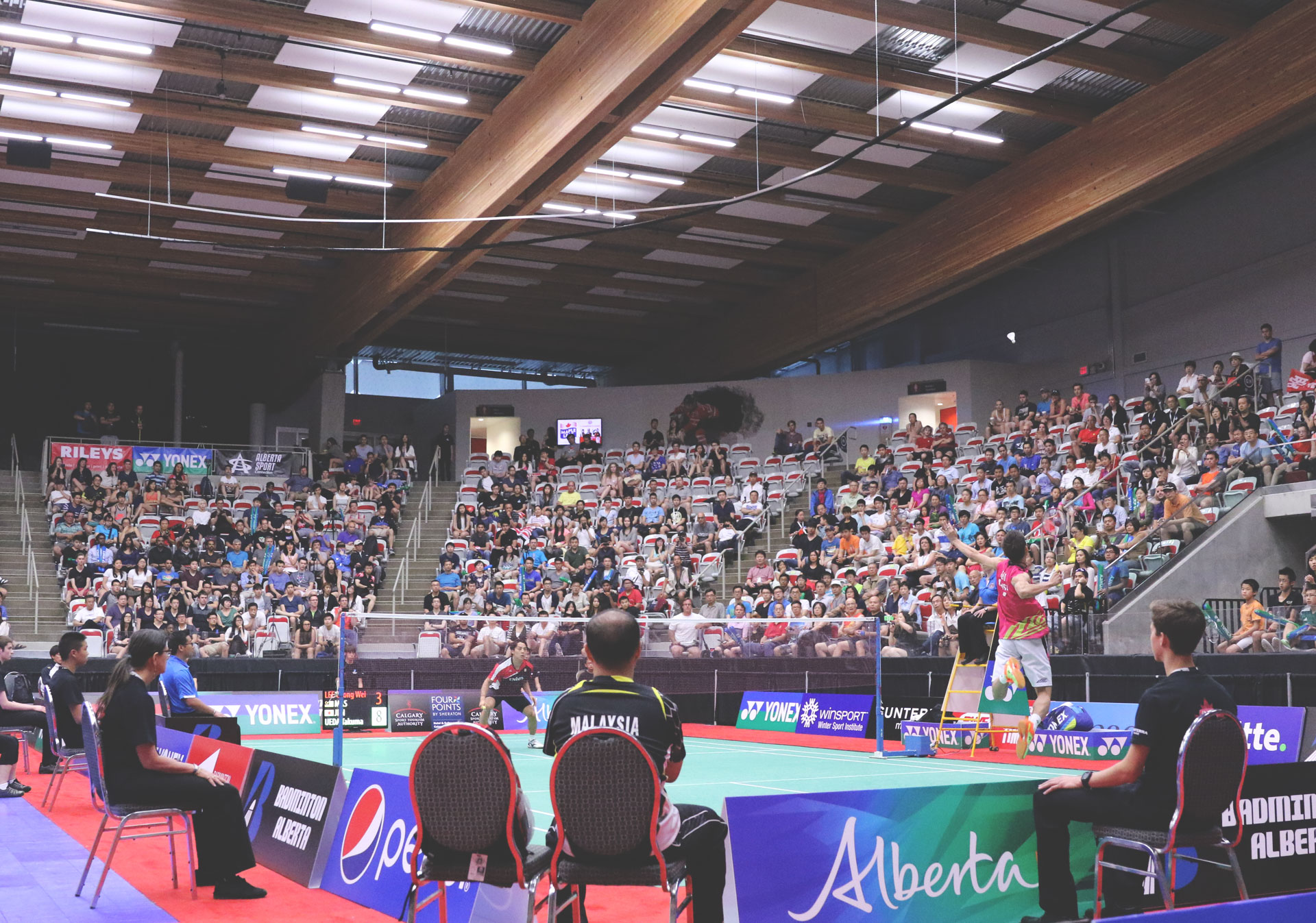 Badminton players from around the world play in the YONEX Canada Open.
