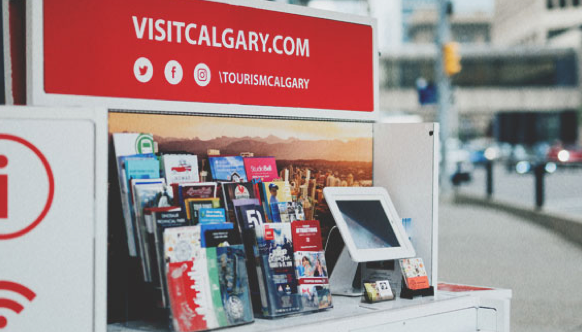 Visit Calgary information booth