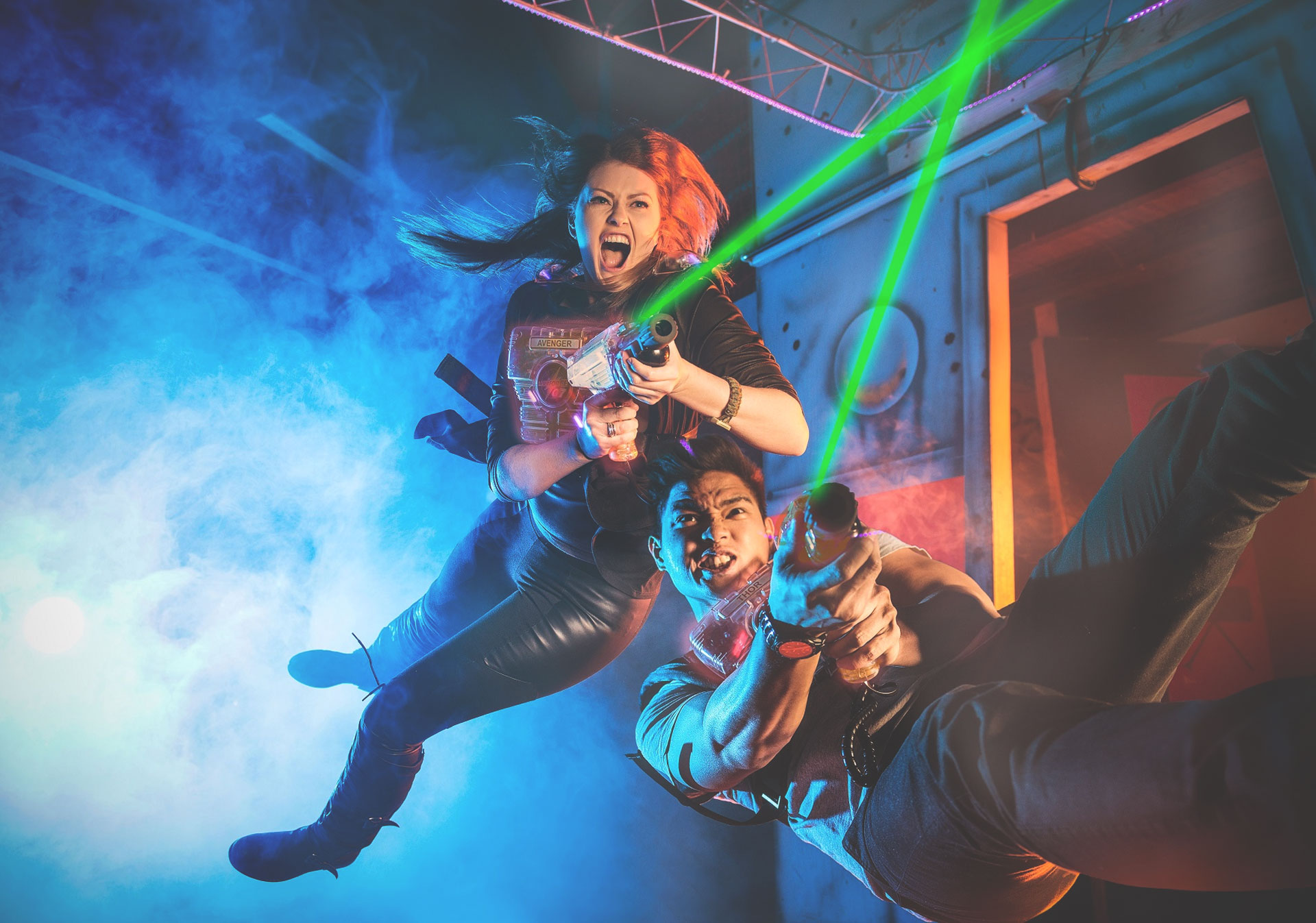 Action packed fun at Laser City.