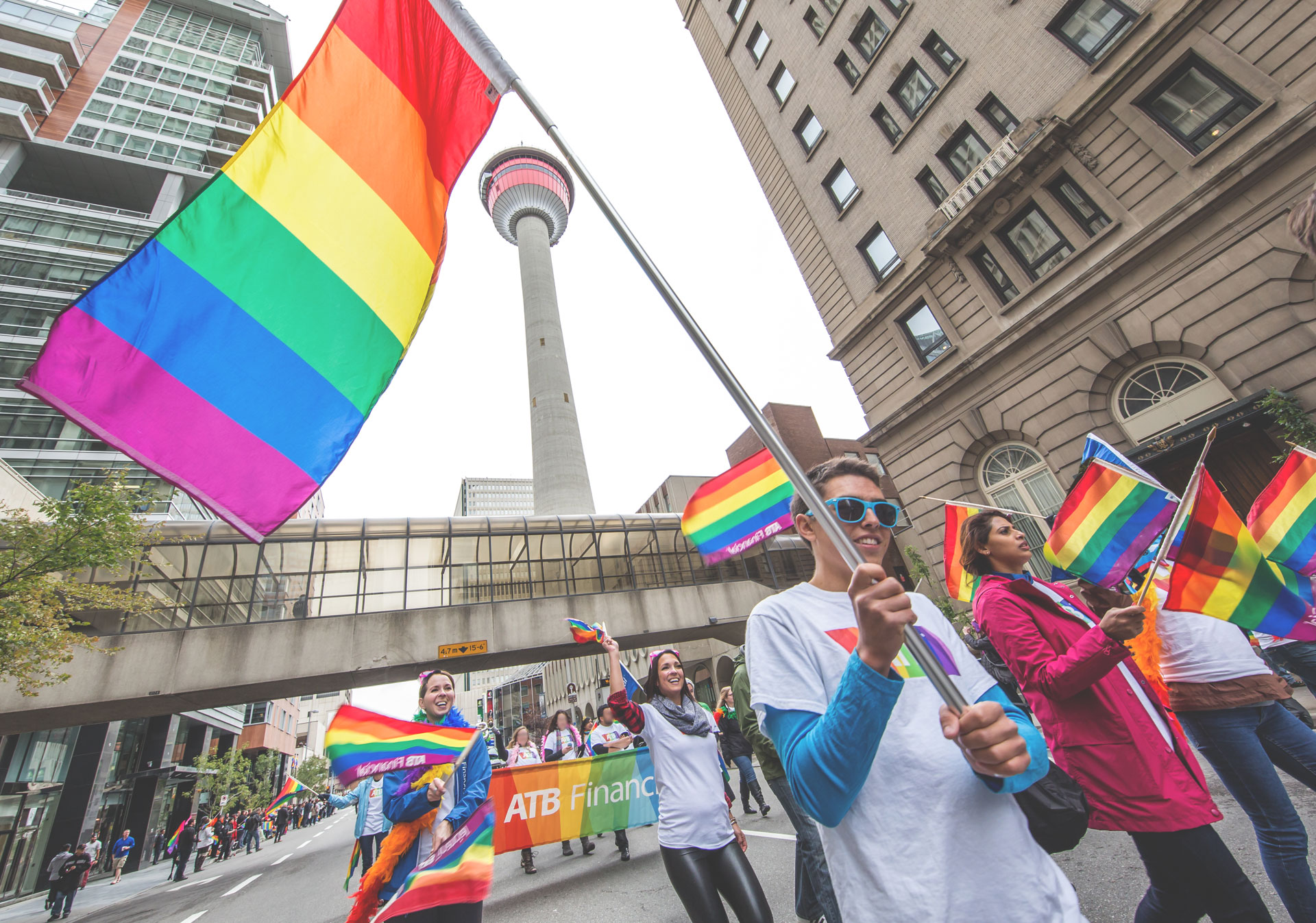 Celebrate LGBT diversity at the Calgary Pride Festival (Photo Credit: Neil Zeller).