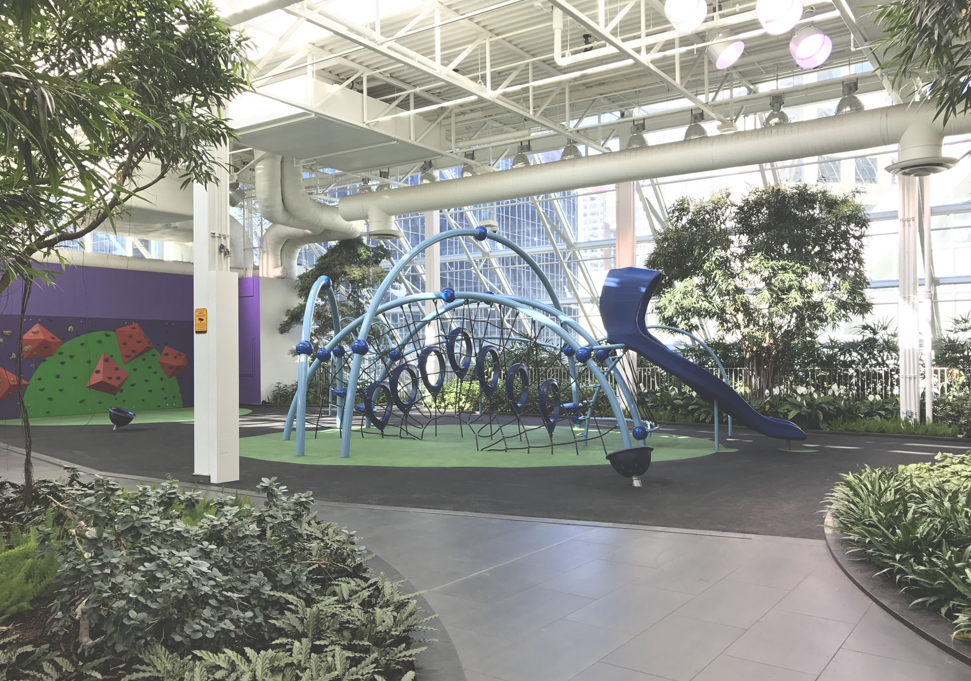 Let your kids enjoy the fun at the playground in the Devonian Gardens.