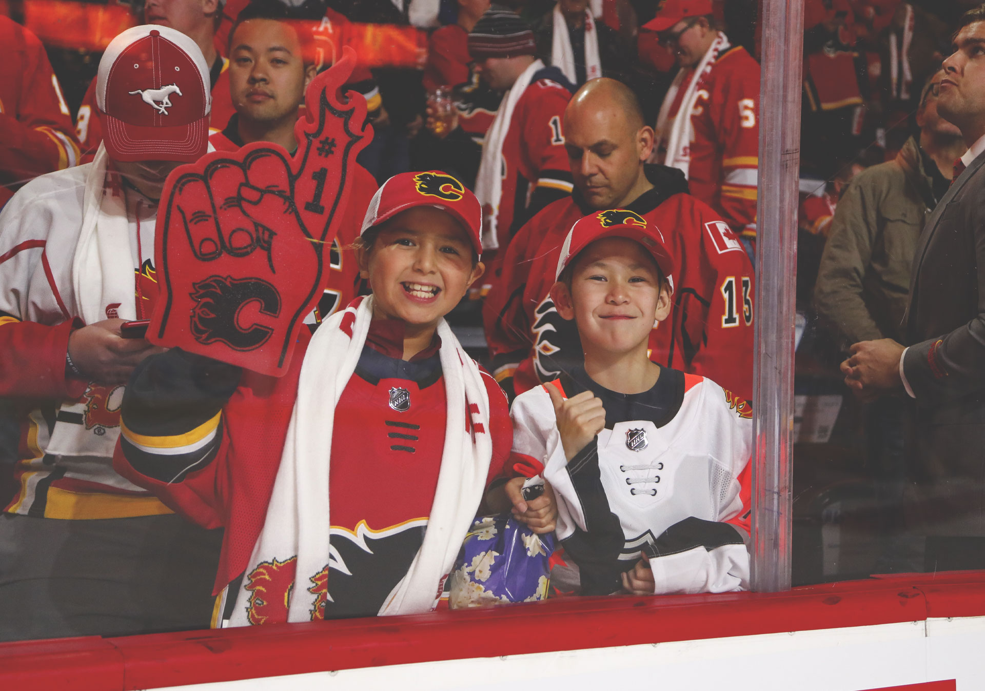 NHL action with the Calgary Flames